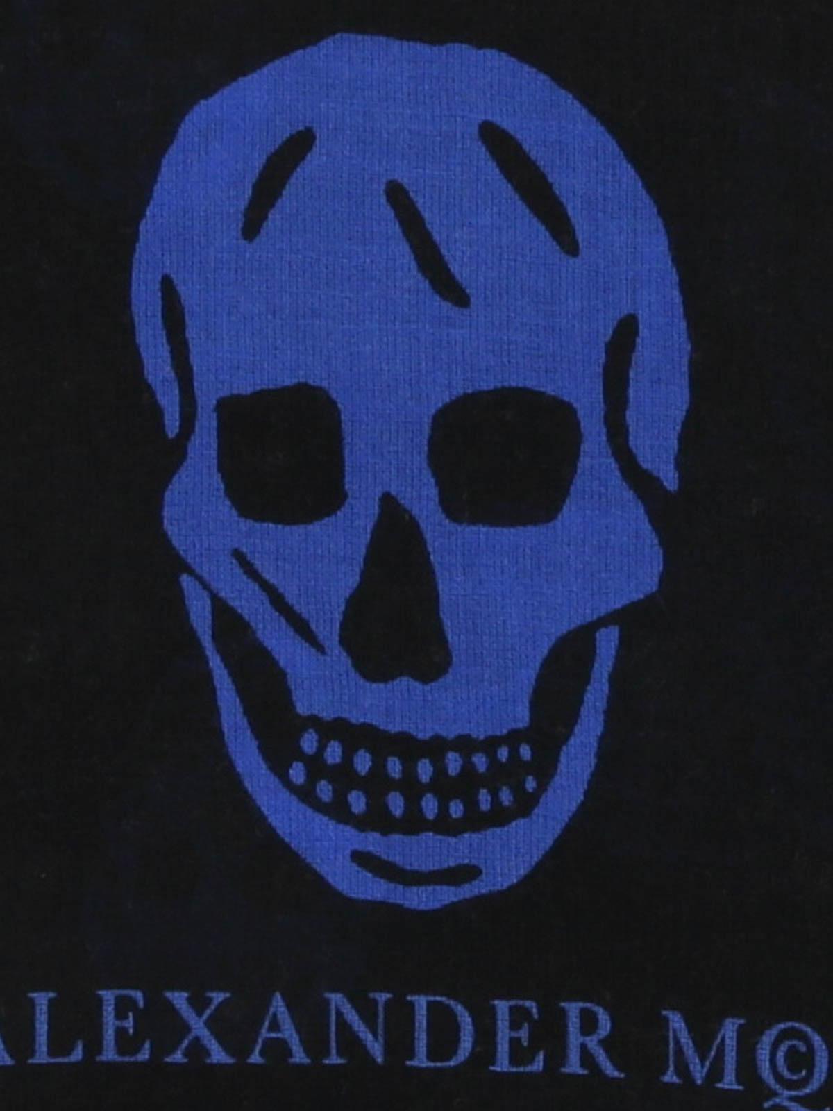 8a3c01310b98f Alexander Mcqueen - Blue Punk Skull scarf - scarves - 4757014969Q1068