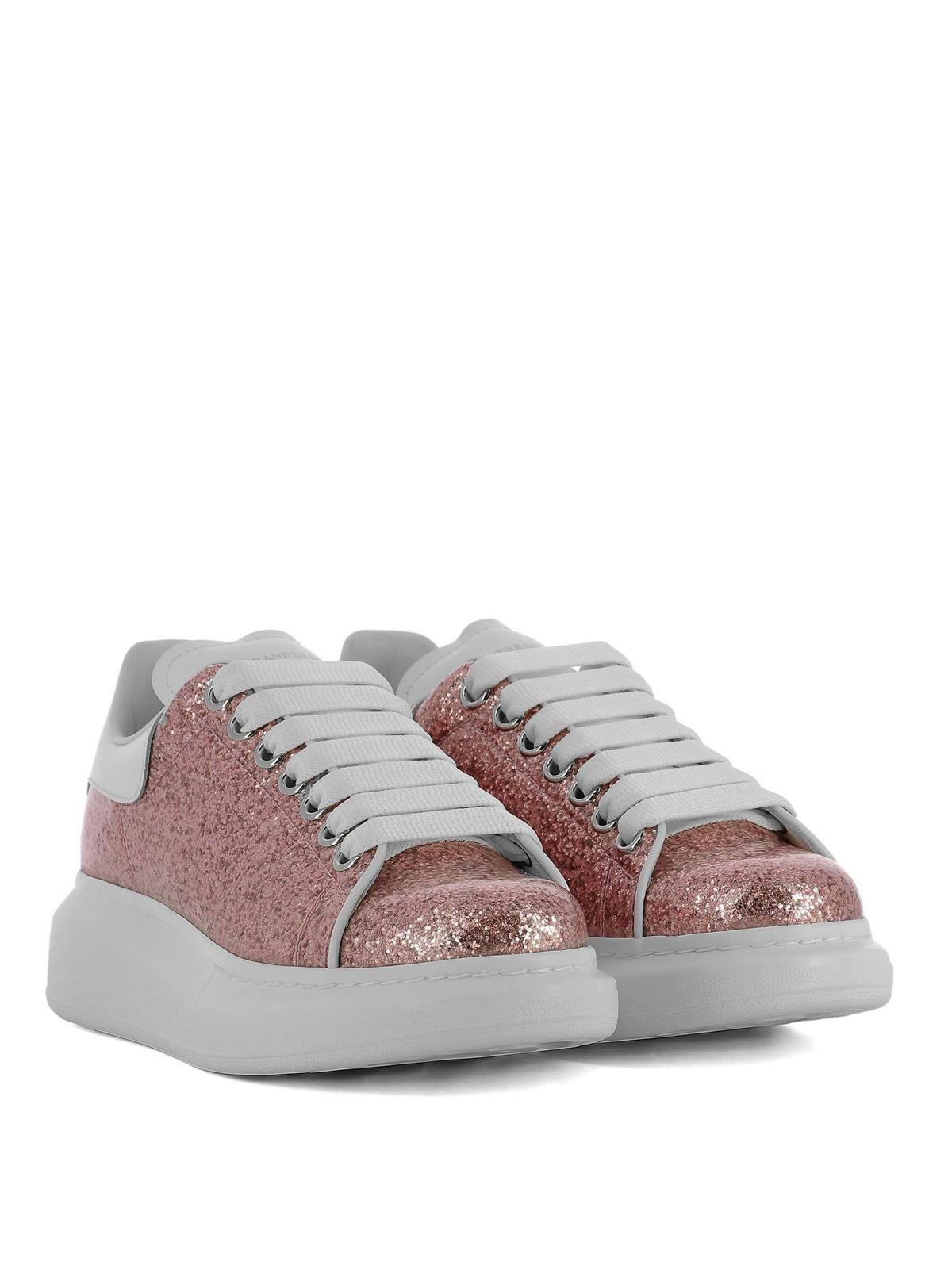 Alexander Mcqueen - Oversize pink glitter sneakers ...