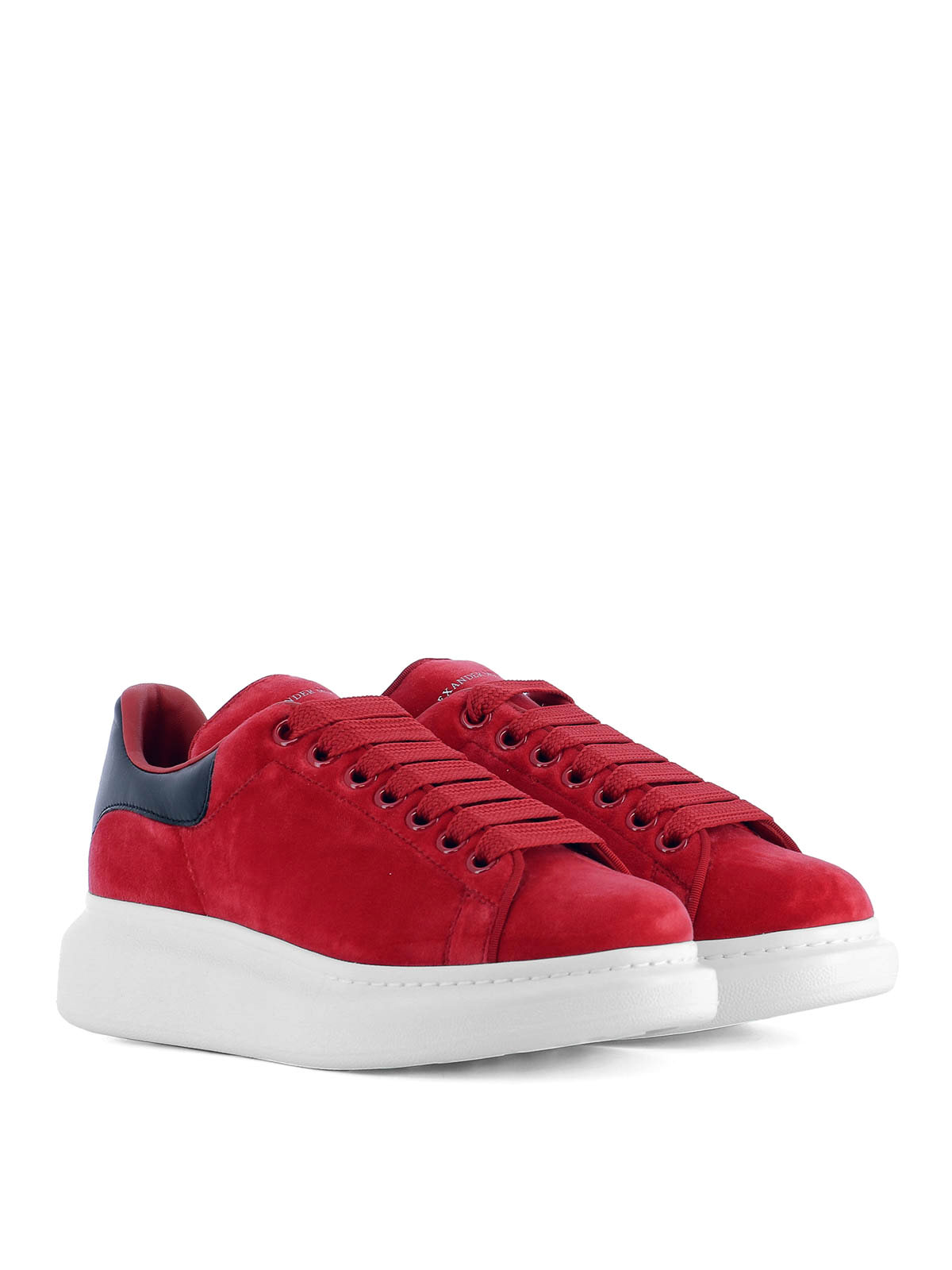 a0c3b004e9e5 ALEXANDER MCQUEEN  trainers online - Oversize red velvet sneakers