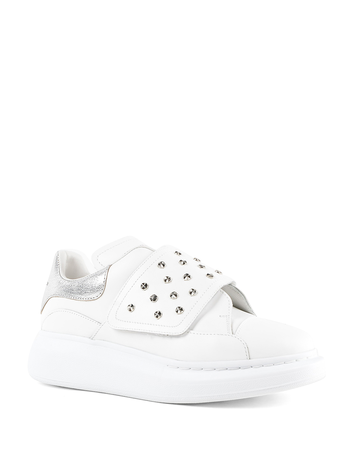 Oversize studded leather sneakers