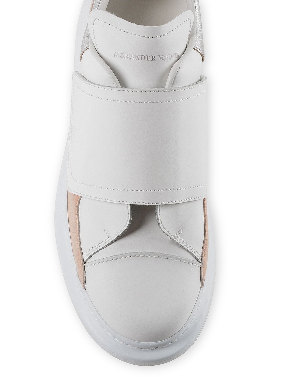 ecdab2f7b Alexander Mcqueen - Oversized leather sneakers with Velcro strap ...