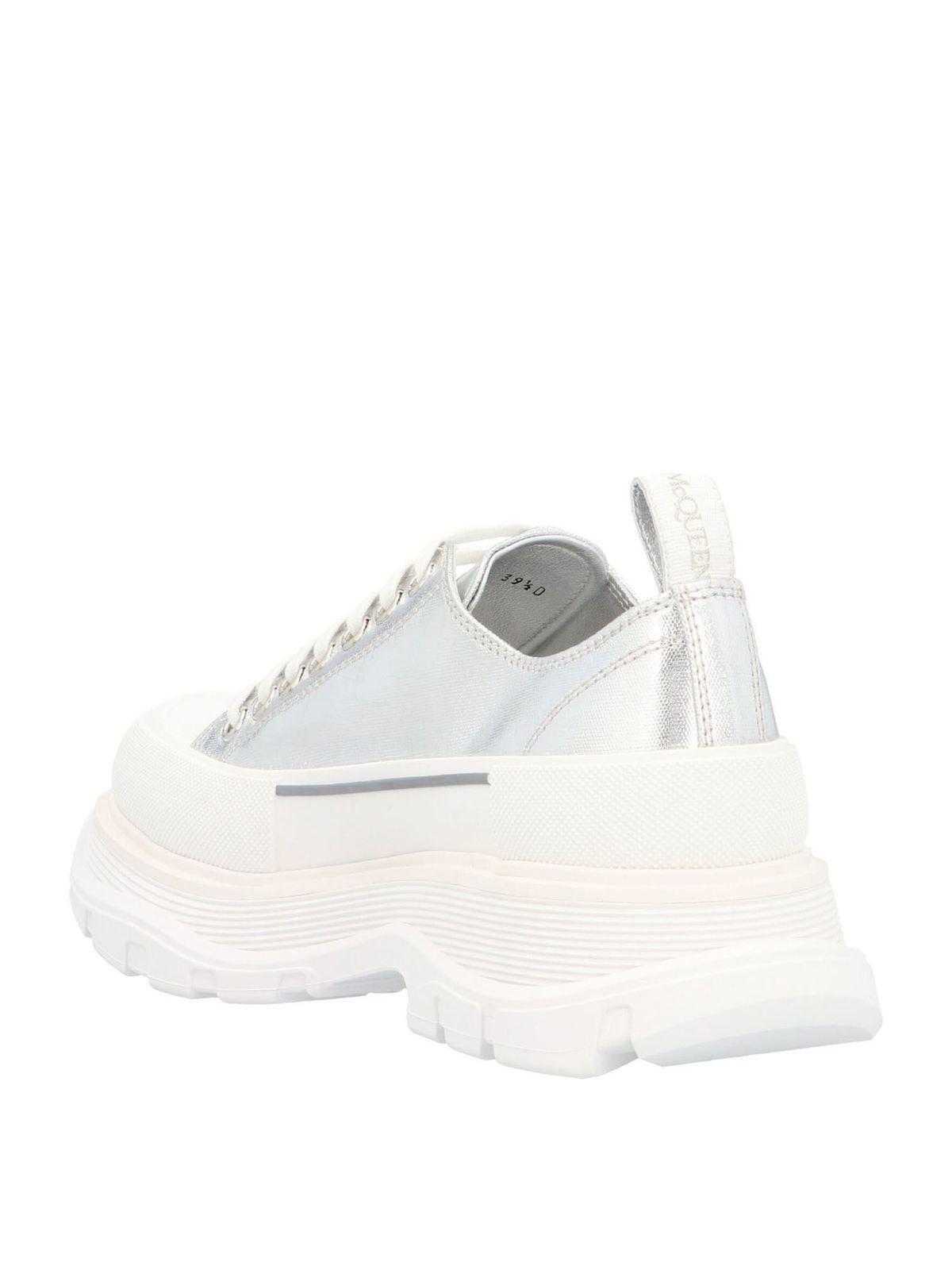 Tread slick sneakers in silver color