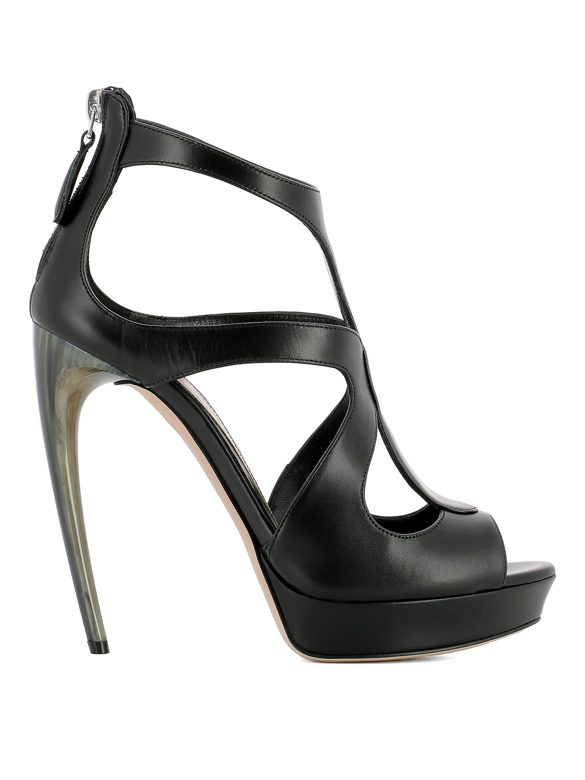 for cheap discount Alexander McQueen Leather Cage Sandals order sale online shopping online cheap price k4LCF8Mb