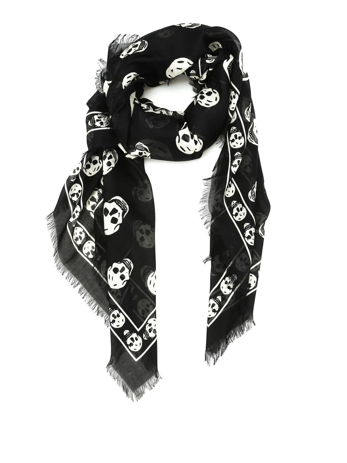 Silk blend skull scarf by Alexander Mcqueen - scarves | iKRIX