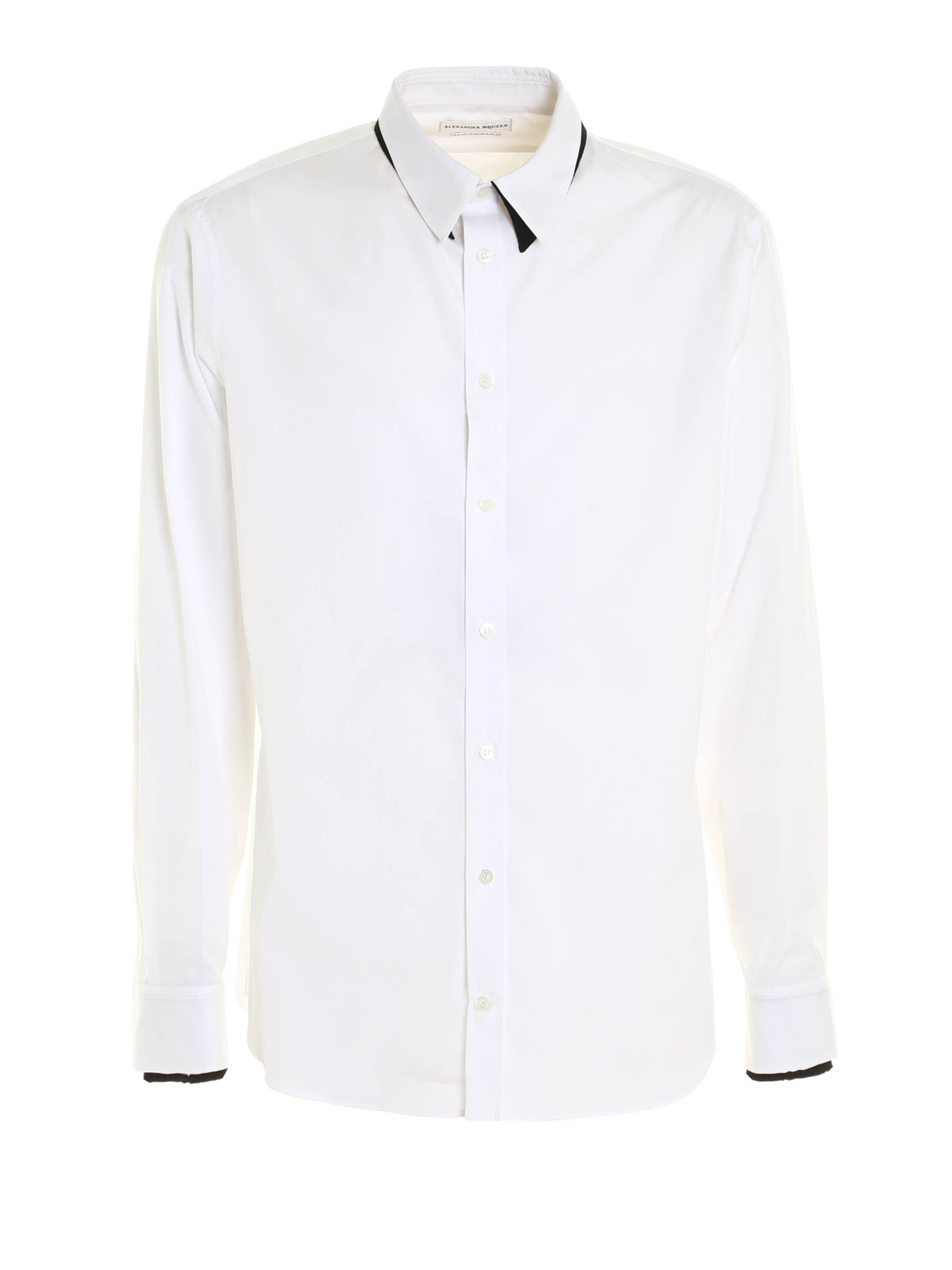 Double collar and cuff shirt by alexander mcqueen shirts for Pin collar shirt double cuff