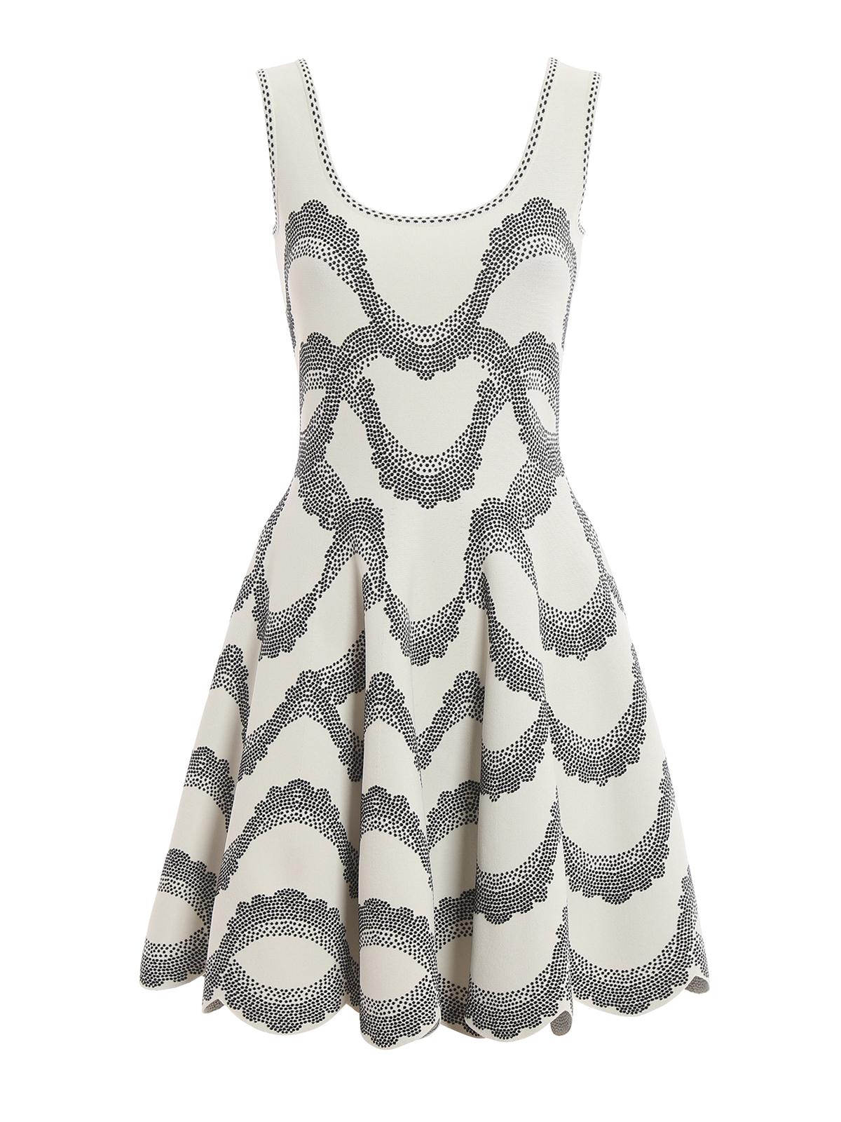 a0838452815 ALEXANDER MCQUEEN  short dresses - Knitted jacquard sleeveless dress