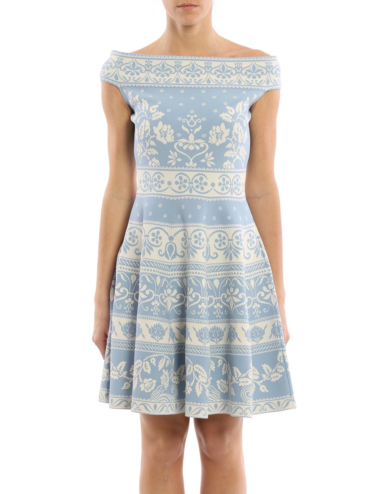 Jacquard short dress Alexander McQueen udYoSqCD