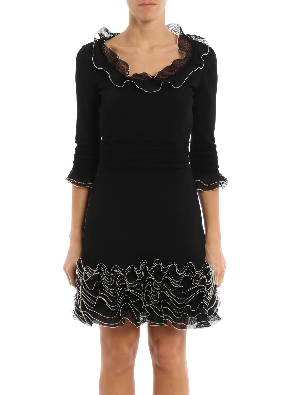 Ruched jersey dress by Alexander Mcqueen - short dresses ...