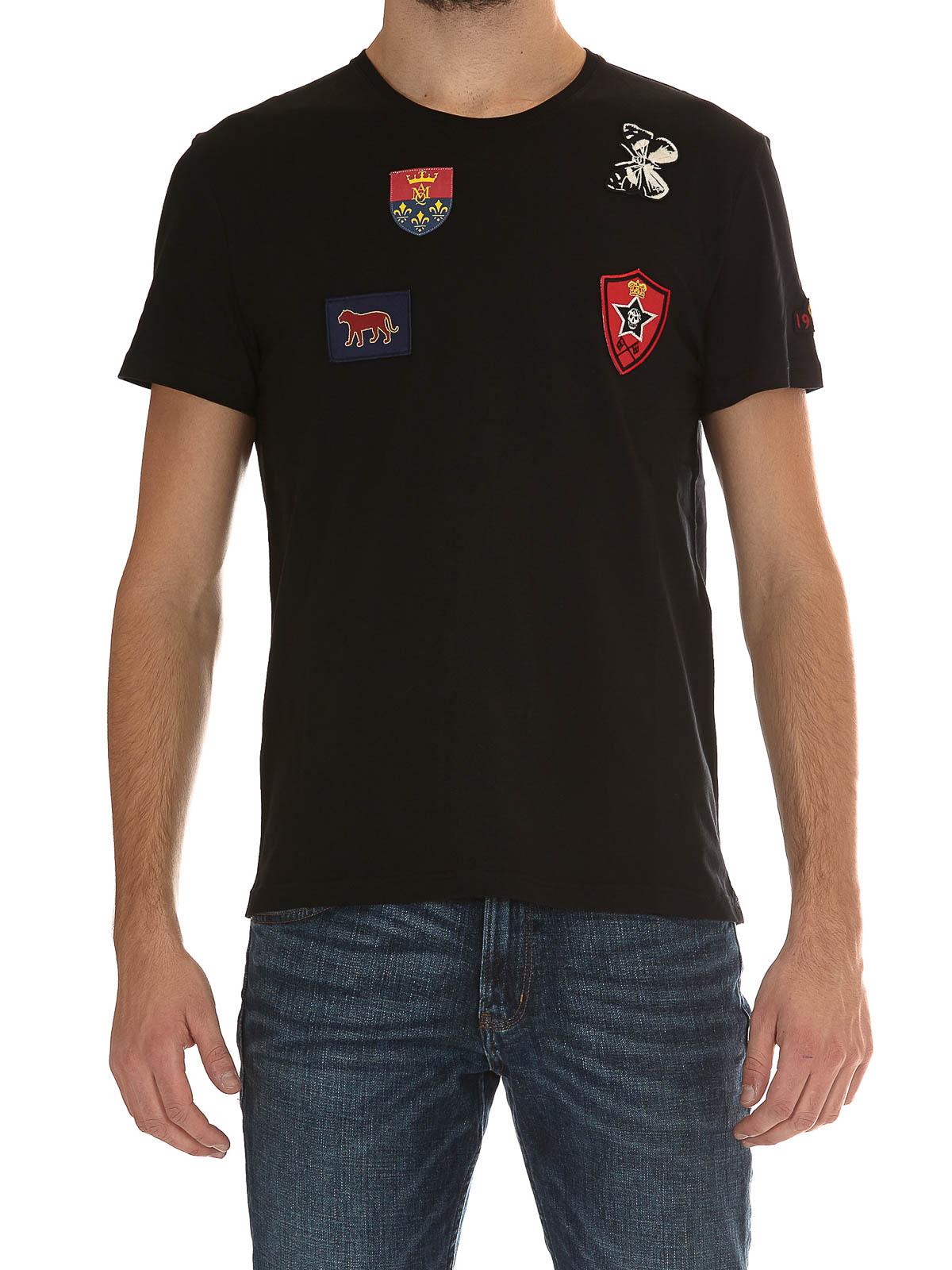 Alexander McQueen Logo patch polo shirt 6ehS94LiU