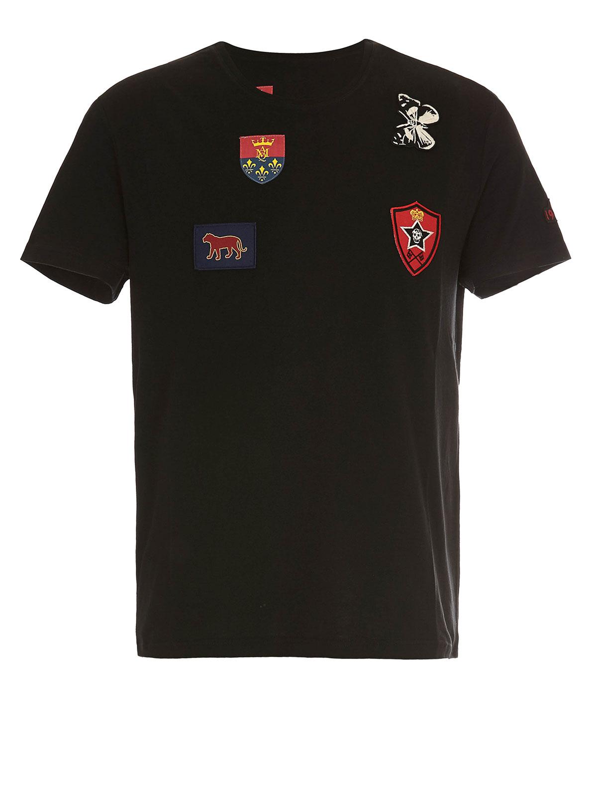 Patch t shirt by alexander mcqueen t shirts shop for Alexander mcqueen shirt men