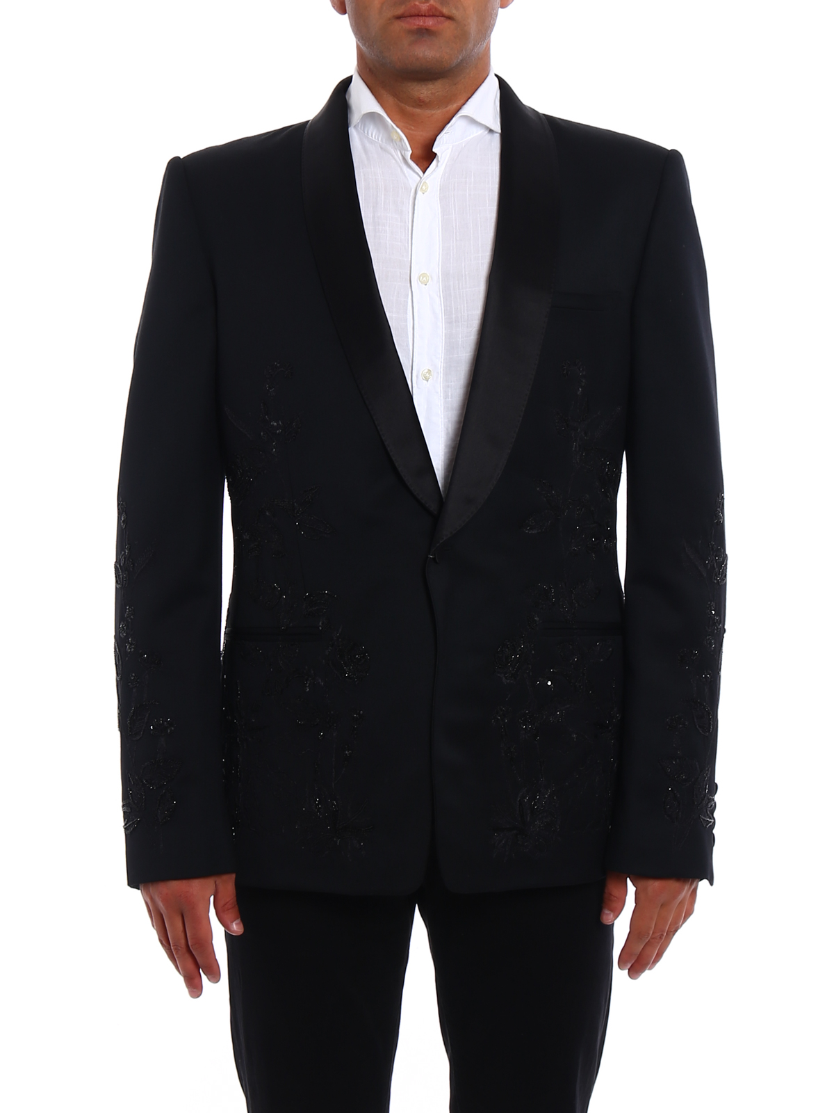 Embroidered tuxedo jacket by alexander mcqueen tailored
