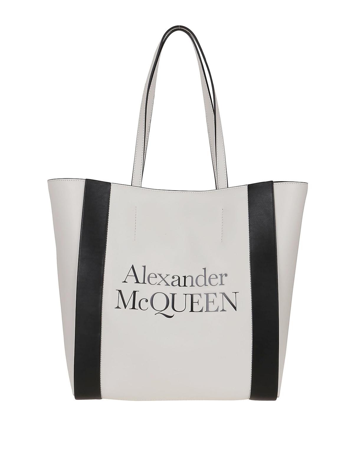 Alexander Mcqueen Signature Tote In White