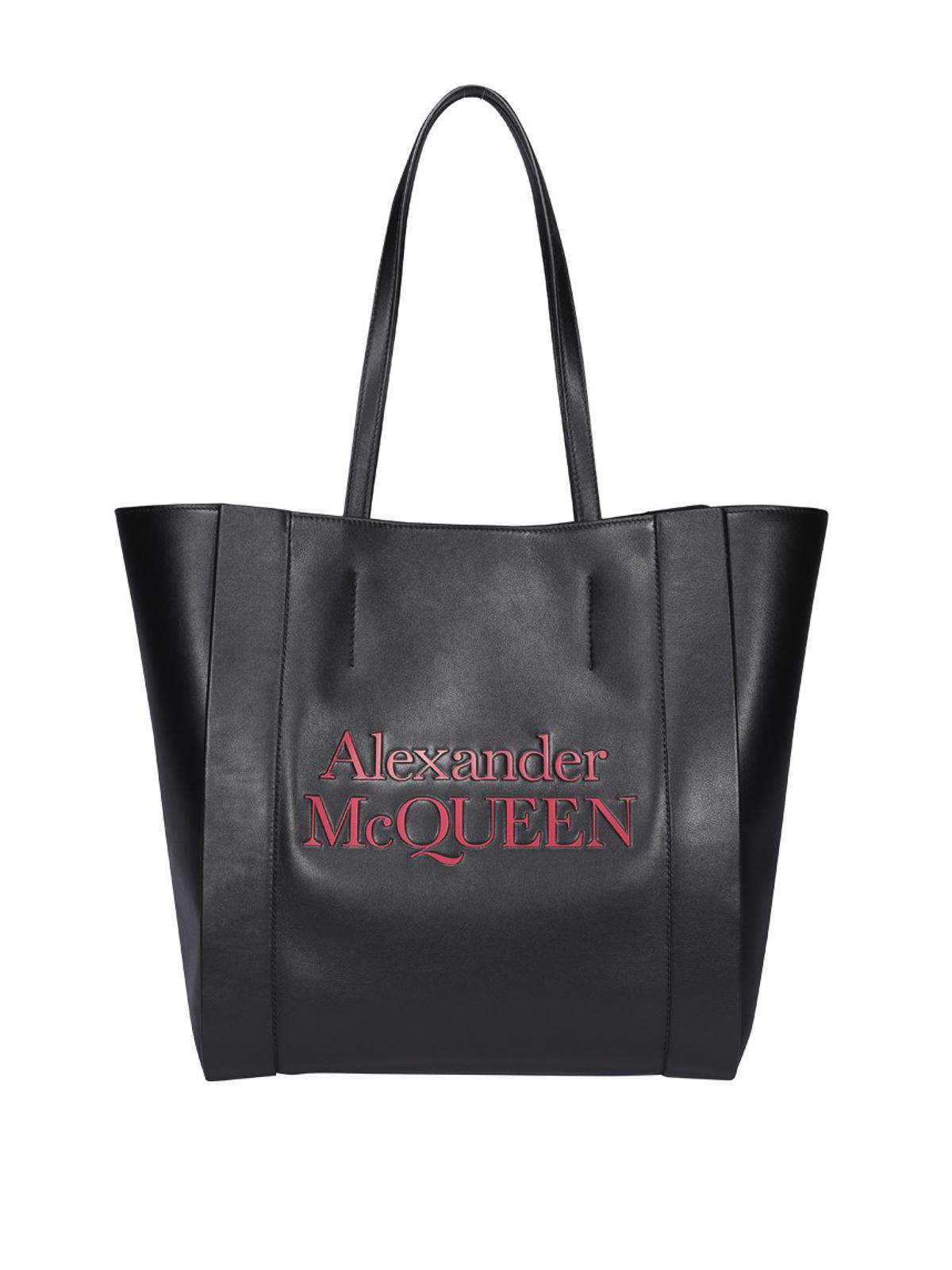Alexander Mcqueen Signature Tote In Black