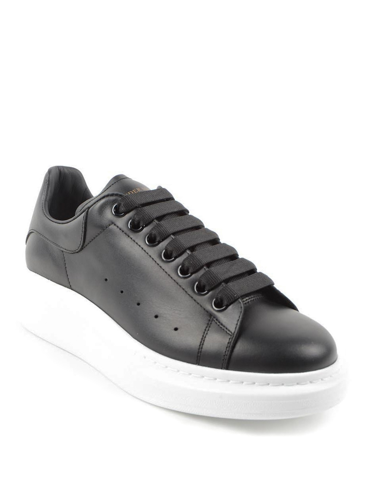 Oversize Sole Leather Sneakers By Alexander Mcqueen