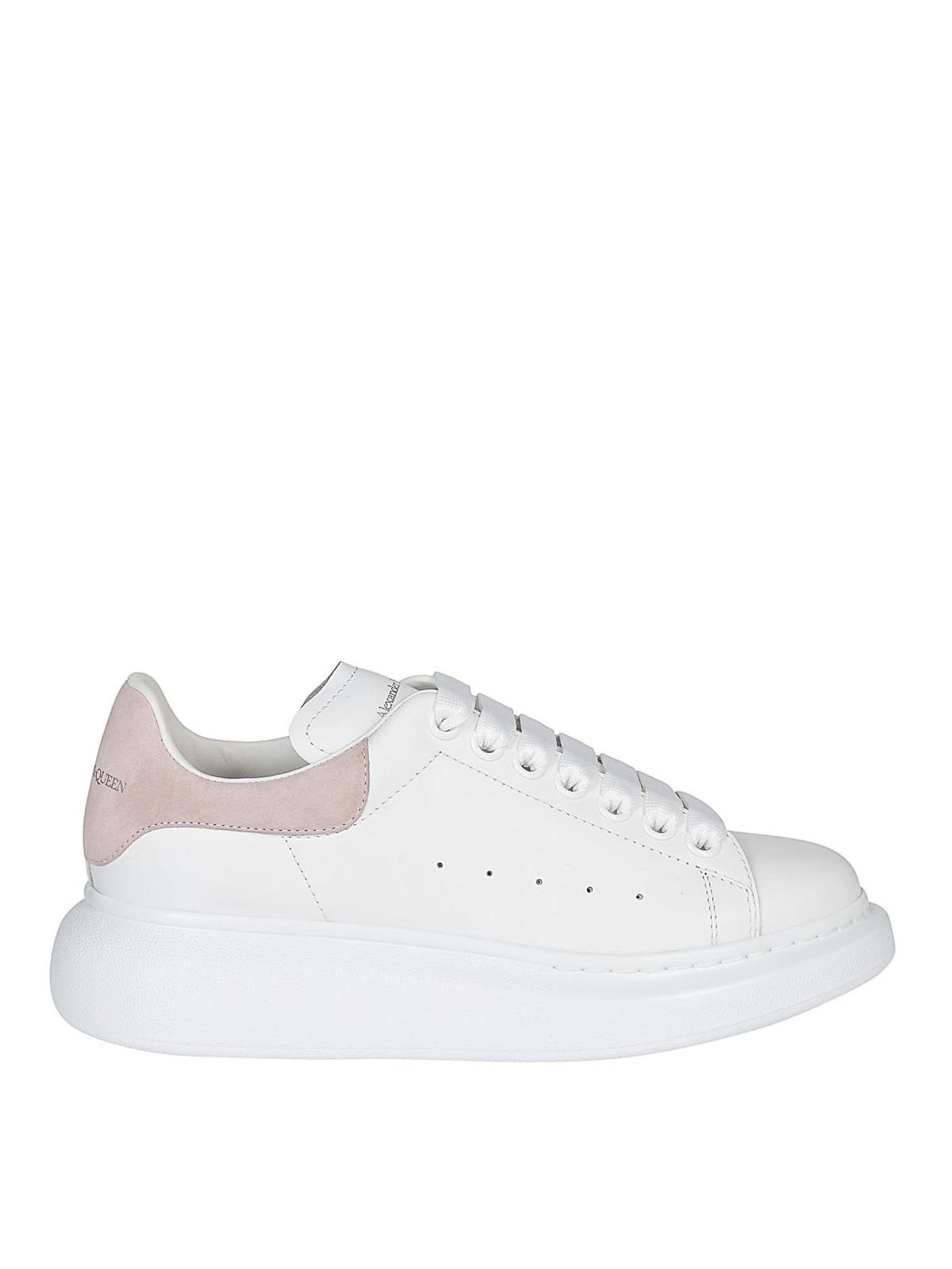 Alexander Mcqueen - Sneaker suola oversize e tallone rosa ...