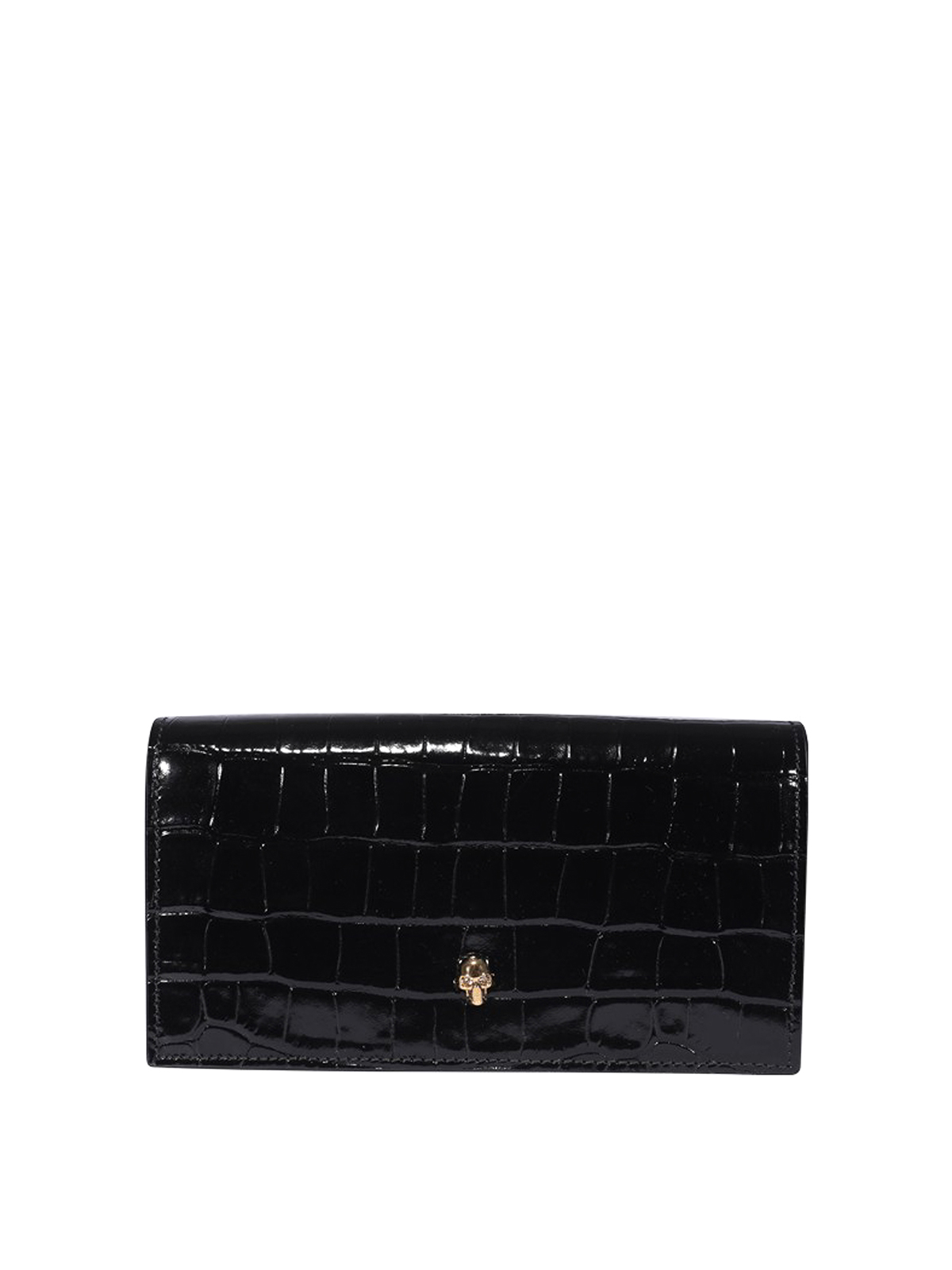ALEXANDER MCQUEEN CROCO PRINT LEATHER WALLET