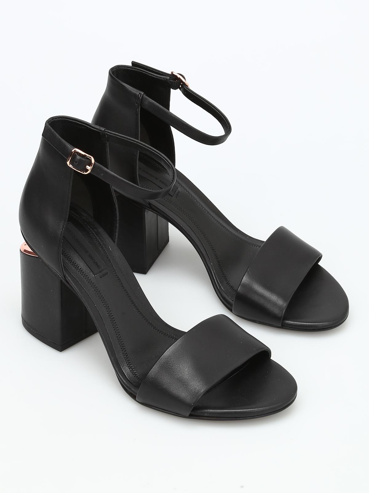 56202364cd1e Alexander Wang - Abby leather sandals - sandals - 304140001