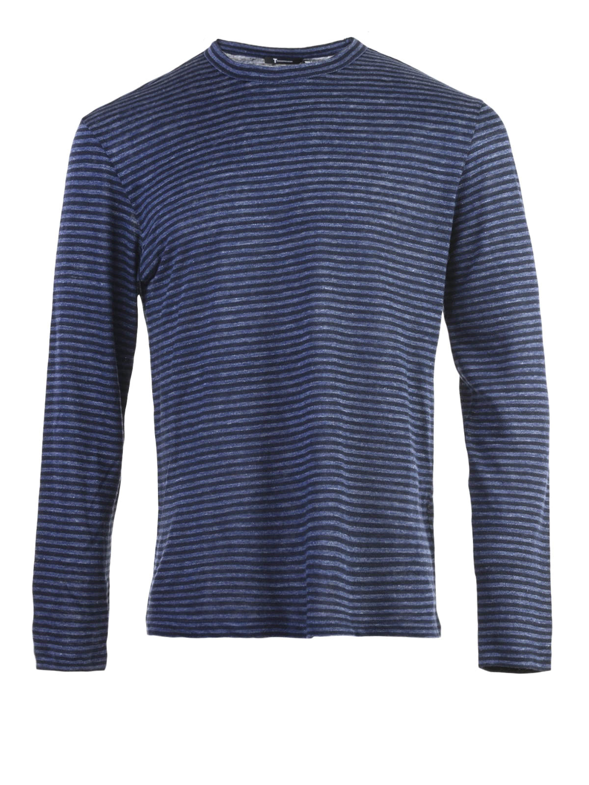 Linen Blend Long Sleeves T Shirt By Alexander Wang T