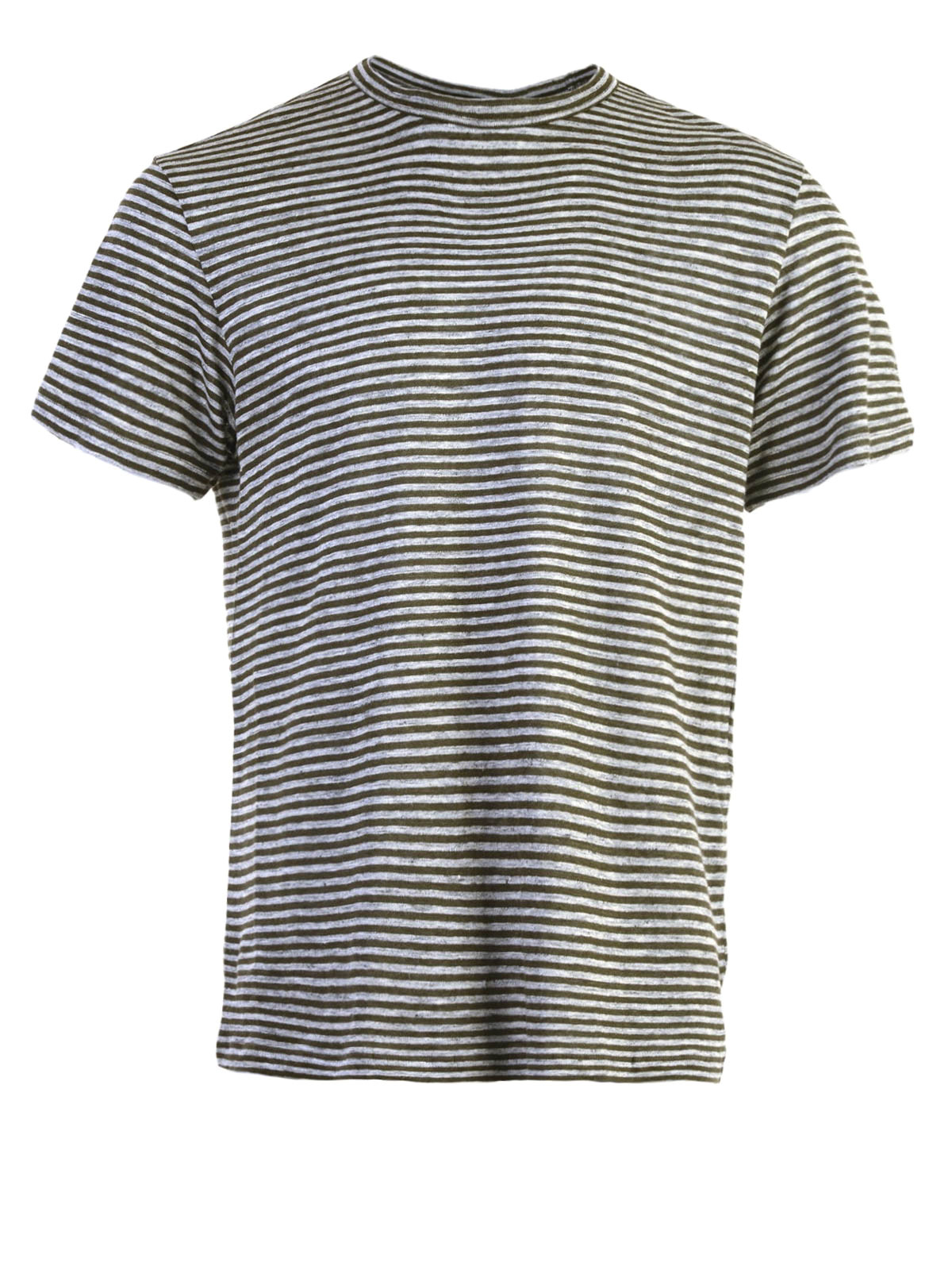 Linen Blend Striped T Shirt By Alexander Wang T Shirts