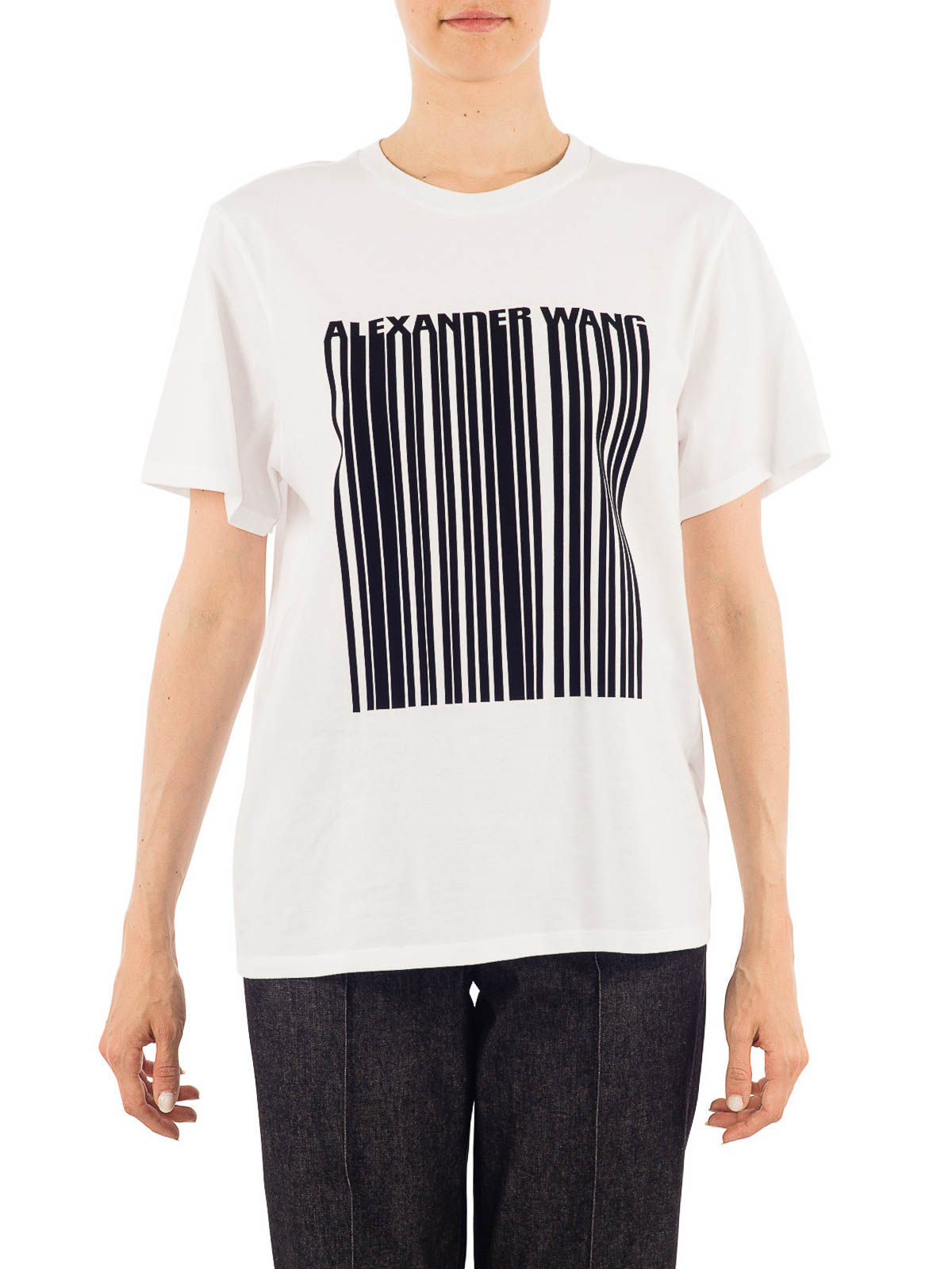 Logo printed jersey t shirt by alexander wang t shirts for Online printed t shirts