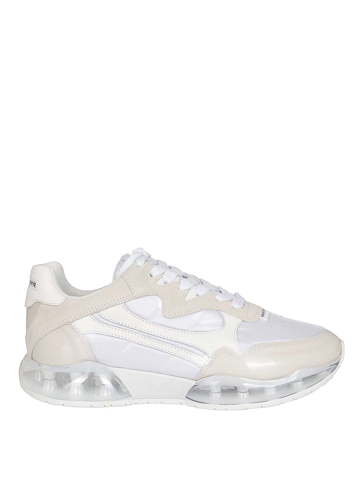 Alexander Wang Stadium Two-tone Suede, Mesh And Rubber Sneakers In White