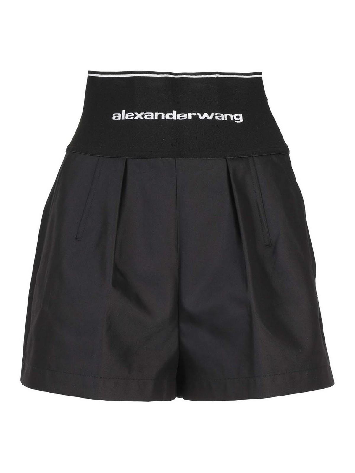 ALEXANDER WANG COTTON BLEND SHORTS
