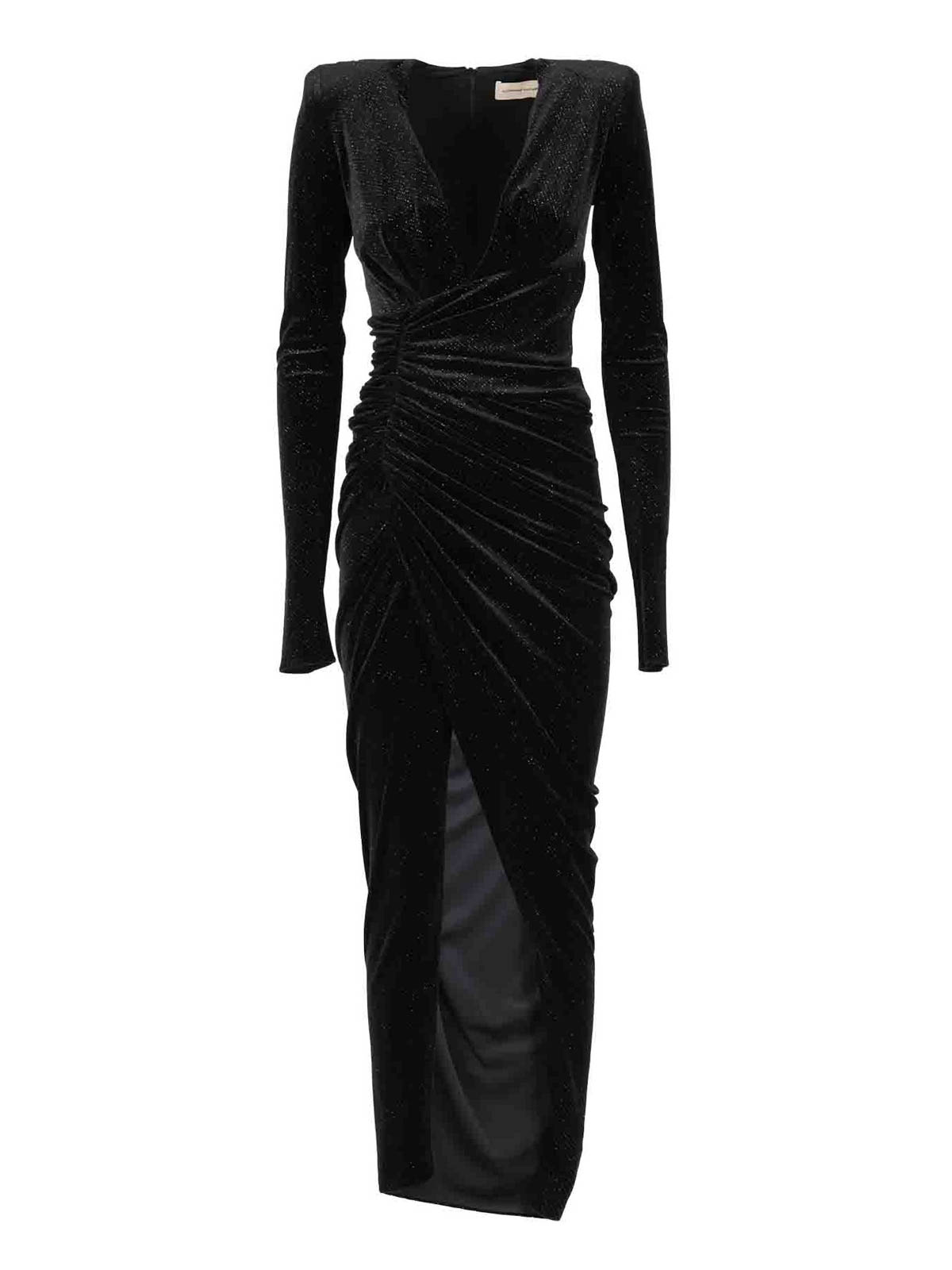 Alexandre Vauthier VELVET LONG DRESS