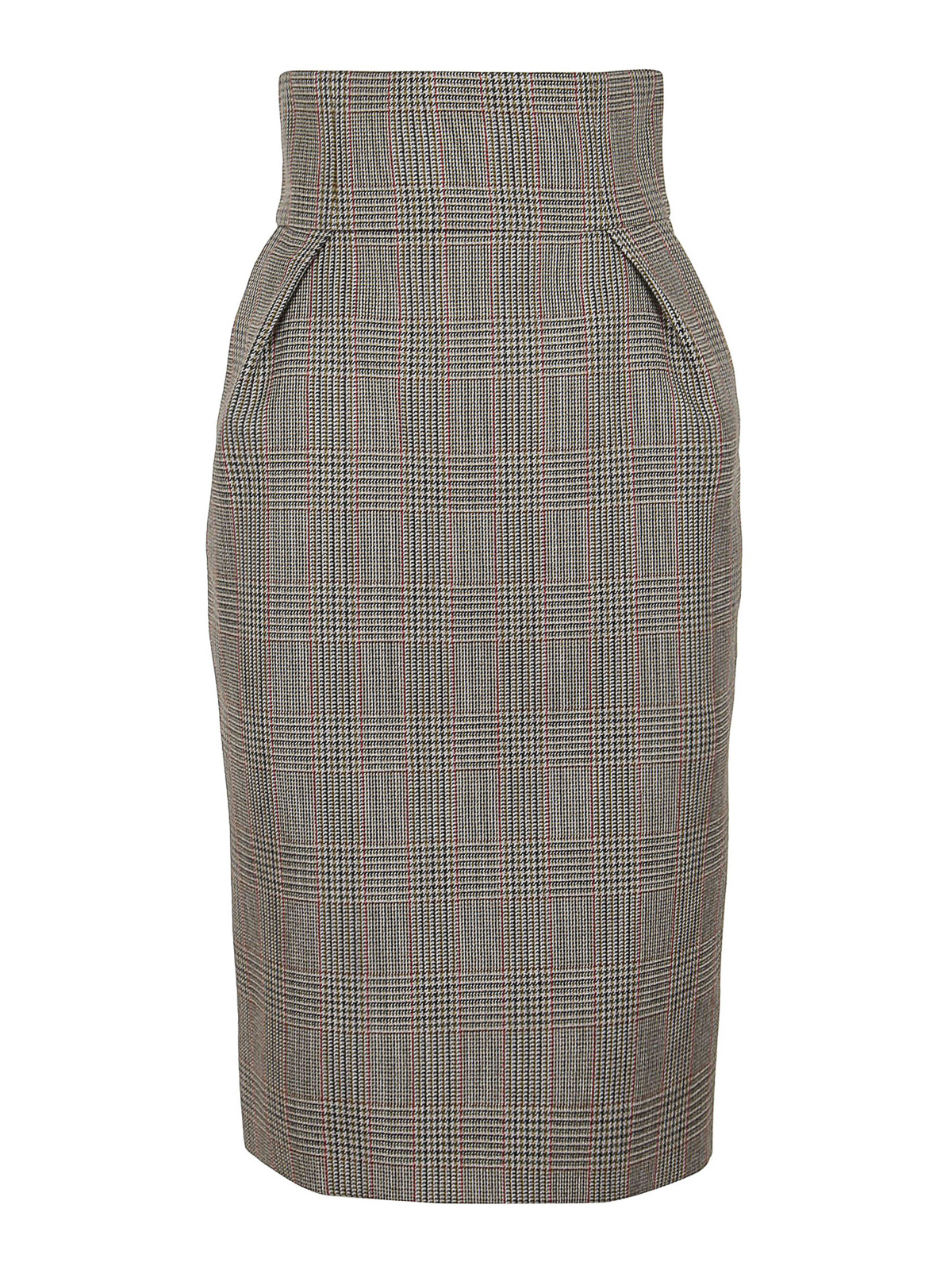 Alexandre Vauthier PRINCE OF WALES WOOL SKIRT