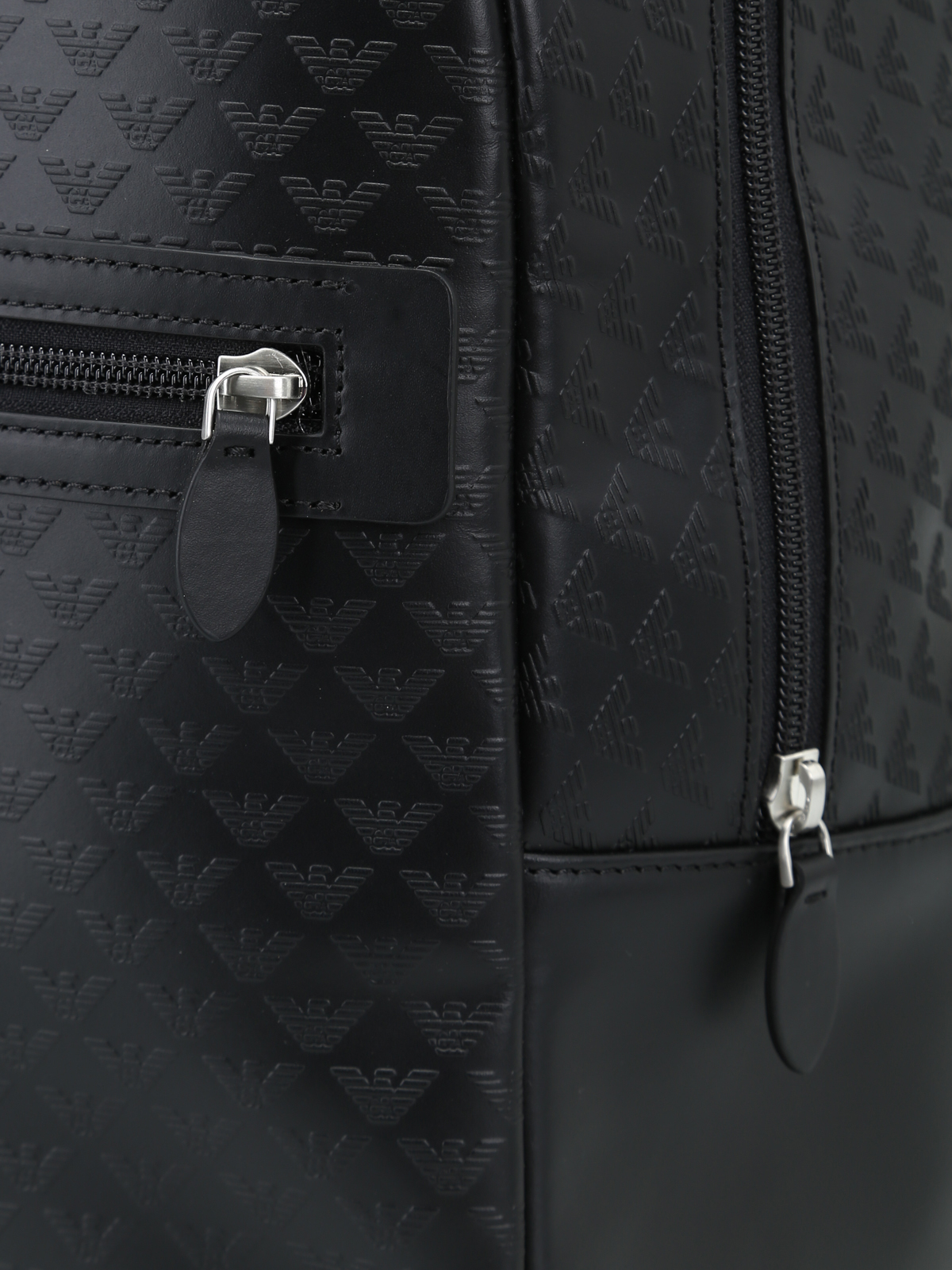 Emporio Armani - All over printed calfskin dome backpack - backpacks ... 9765824de2f1a