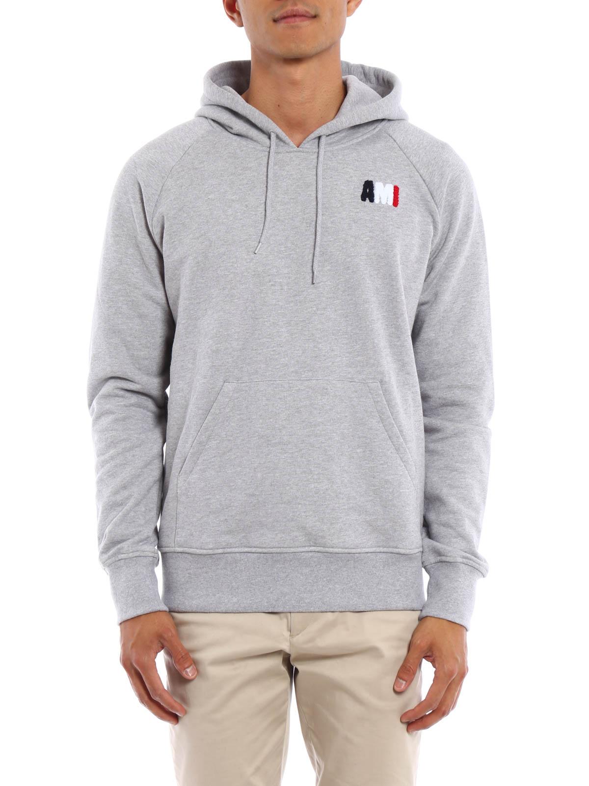 Cotton hooded sweatshirt by Ami Alexandre Mattiussi - Sweatshirts ...