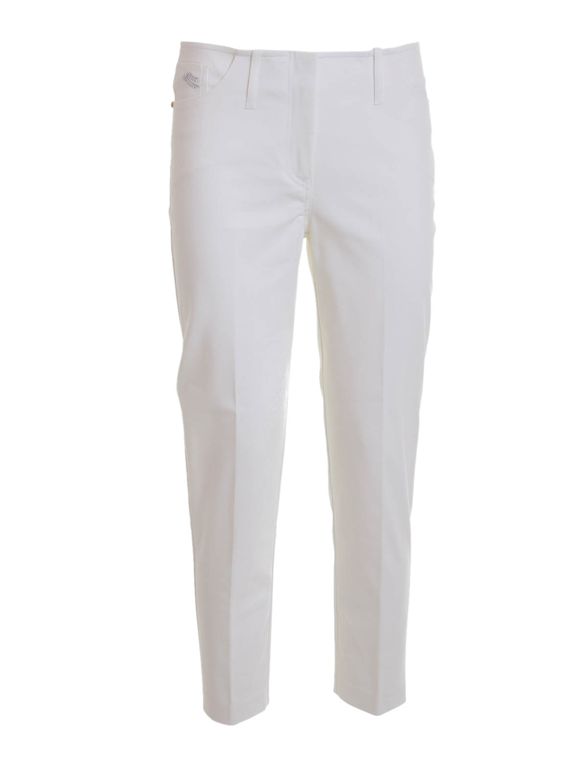 Angelo Marani  Pantalones casual - Pantalón De Traje Blanco Para Mujer b3d63dbcbfb6
