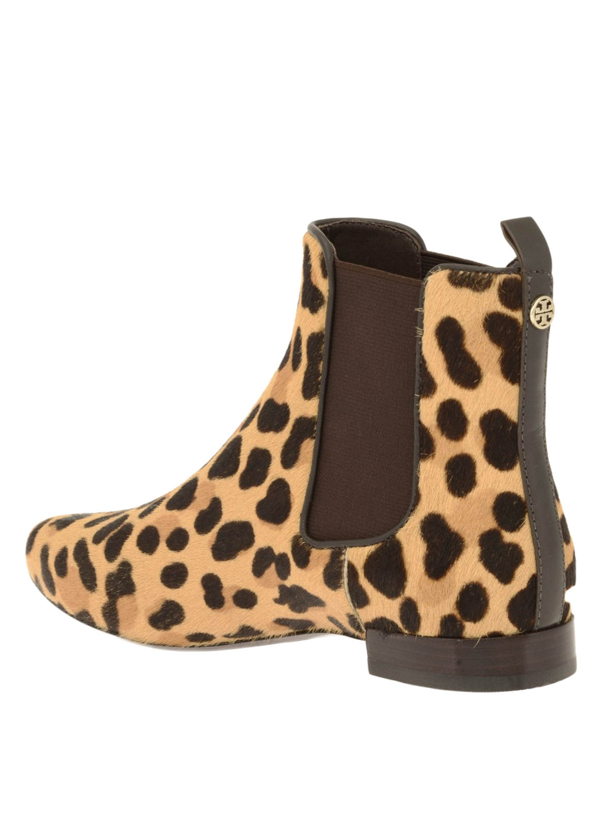 053f84705 Tory Burch - Animal print pony hair Orsay bootie - ankle boots ...