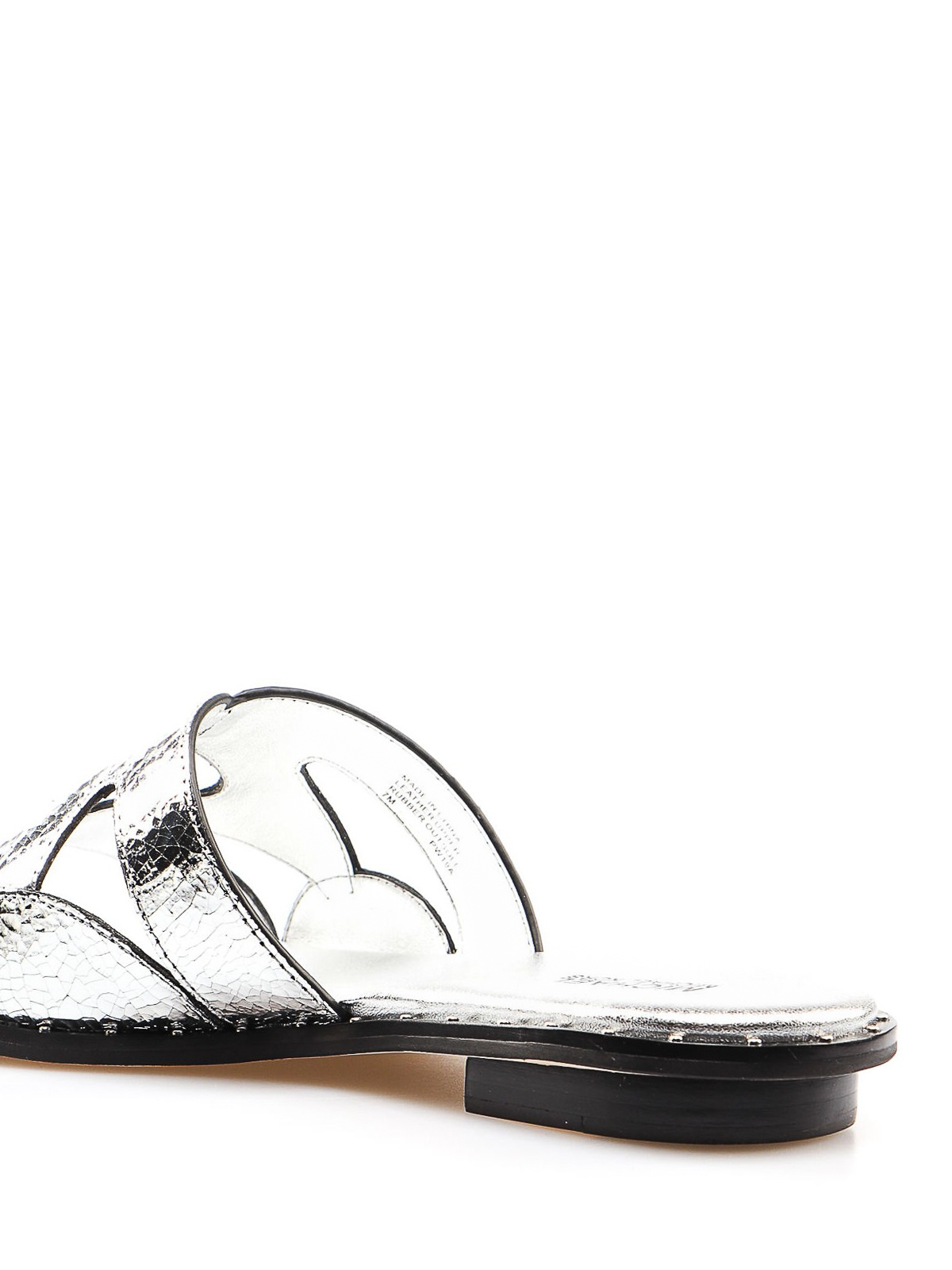 c06f15564ab Michael Kors - Annalee silver leather slide sandals - sandals ...
