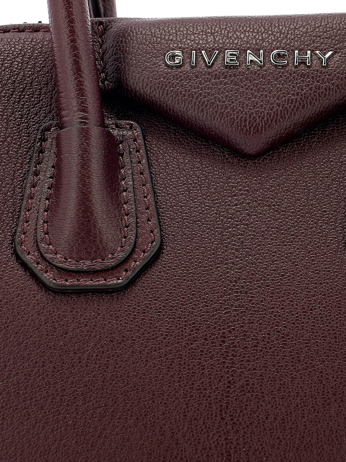 Givenchy - Antigona aubergine leather mini handbag - bowling bags ... dbcf9200bf969