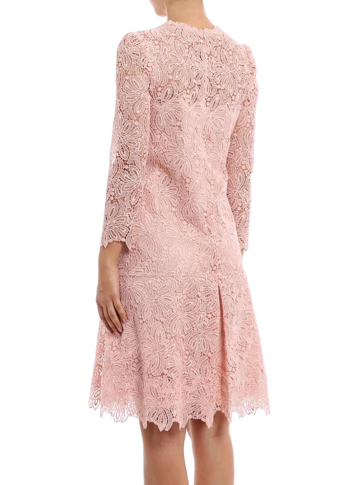 quality design b1a30 e7377 Ermanno Scervino - Abito in pizzo rosa antico - abiti da ...