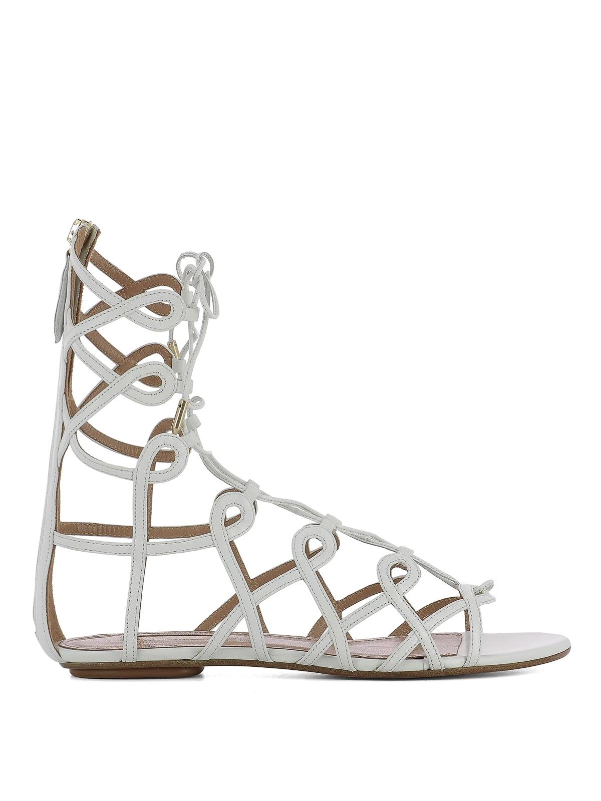 cb03f4643ed Aquazzura - Mumbai Gladiator leather sandals - sandals ...