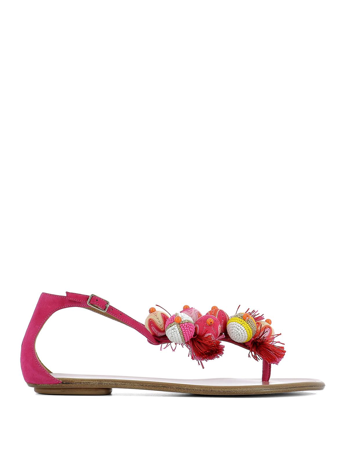 a12d8b97b Aquazzura - Tropicana thong flat sandals - sandals - TRPFLAIN SUE PPK
