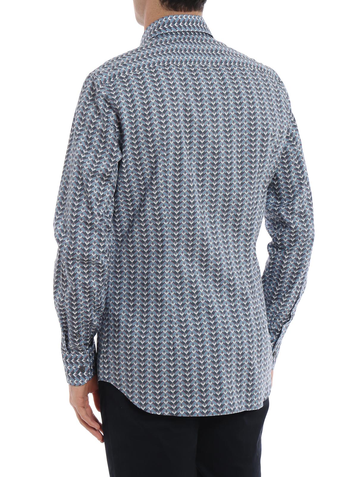 4967a4e876 Prada - Argyle print poplin shirt - shirts - UCM6081TC5D30   iKRIX.com