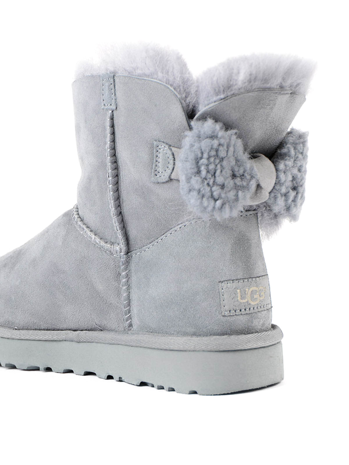 71309c4f577 Ugg - Arielle bow grey ankle boots - ankle boots - 1019625 ARIELLE ...