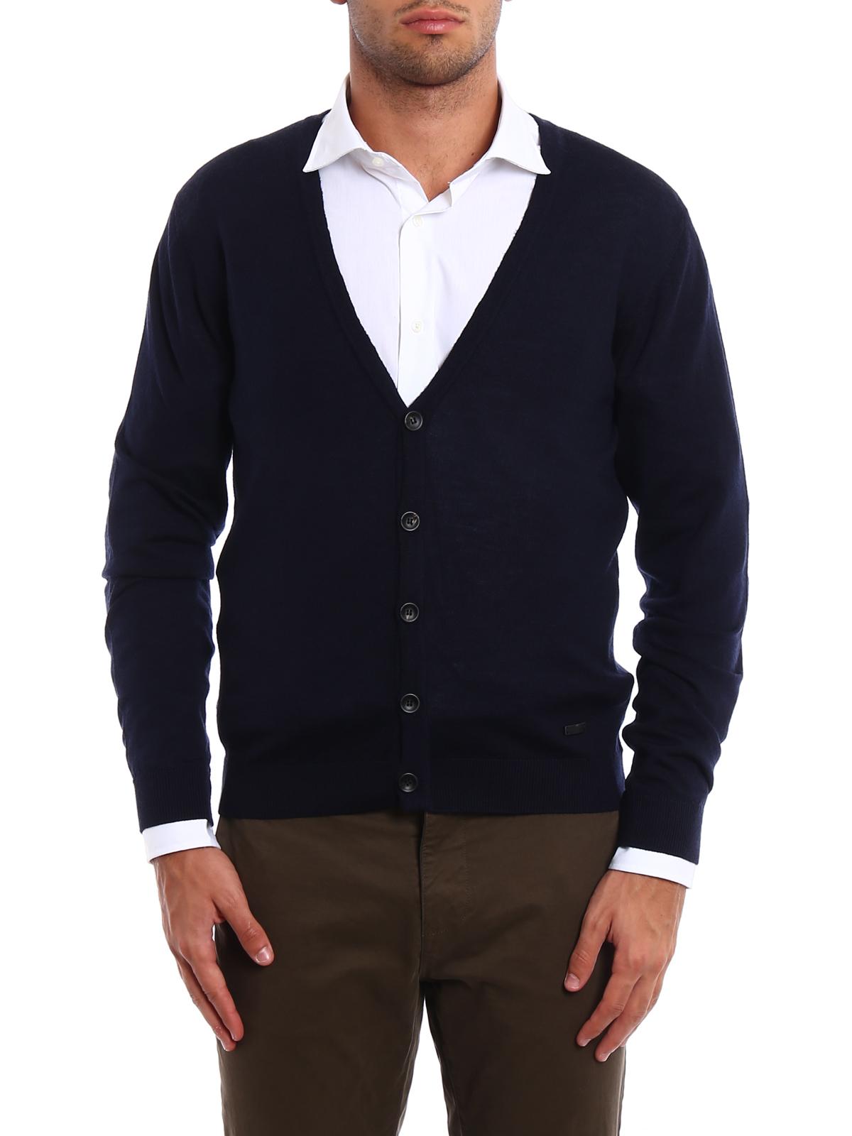 Lightweight wool cardigan by Armani Collezioni - cardigans | iKRIX