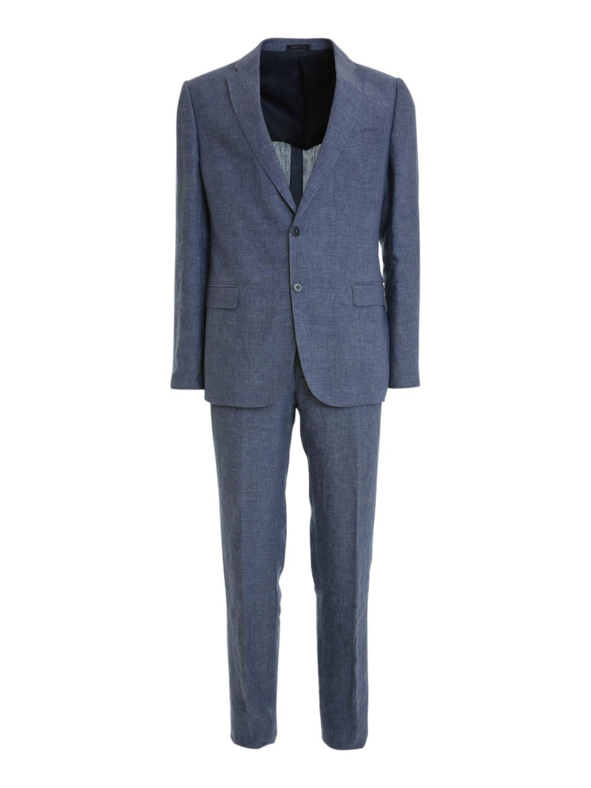 Costumes Pour Homme Collezioni Bleu Veste Casual Armani n0Uq7n