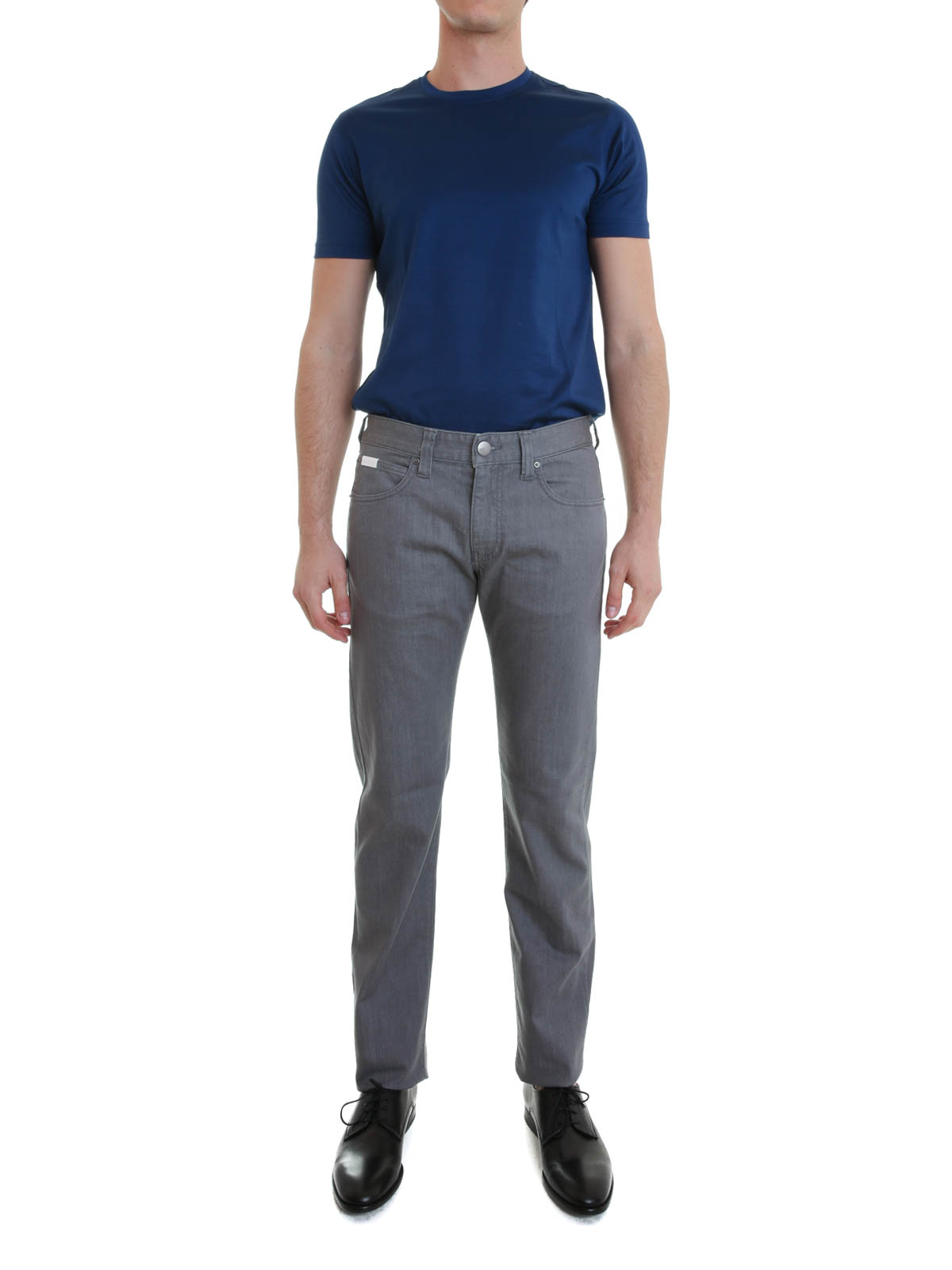 Armani Jambe Slim Jean Jeans Foncé Collezioni Homme Pour Gris À CwCrZx