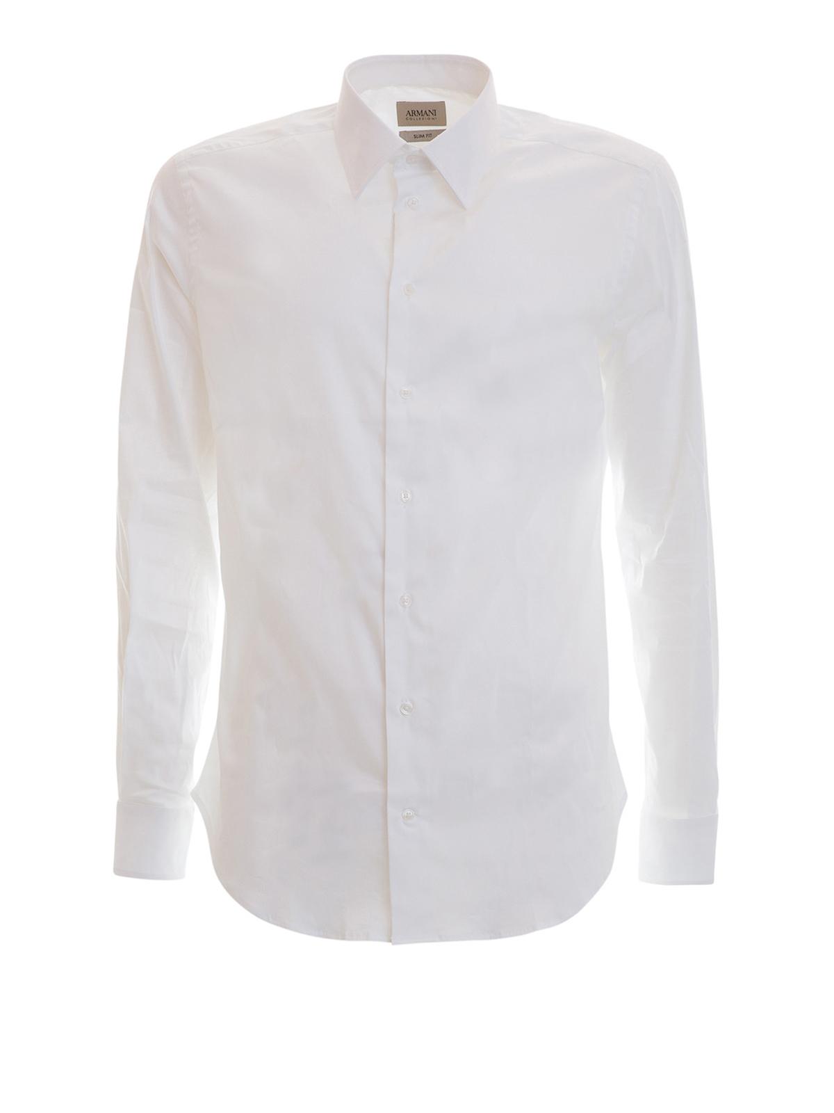 d5b07324440c Armani Collezioni - Camisa Blanca Para Hombre - Camisas - VCCS5LVCBC0100