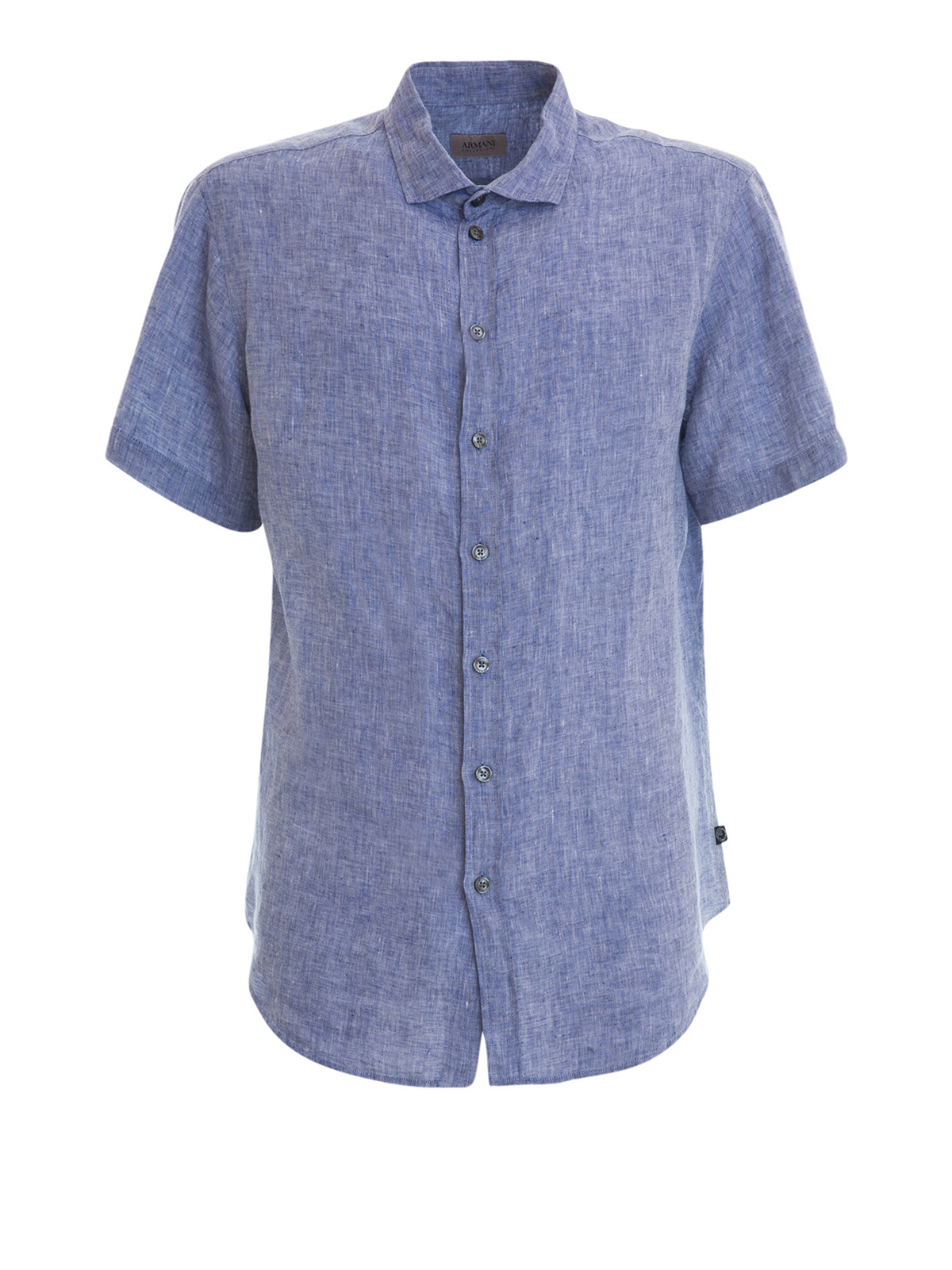 Short sleeves linen shirt by armani collezioni shirts for Short sleeve linen shirt
