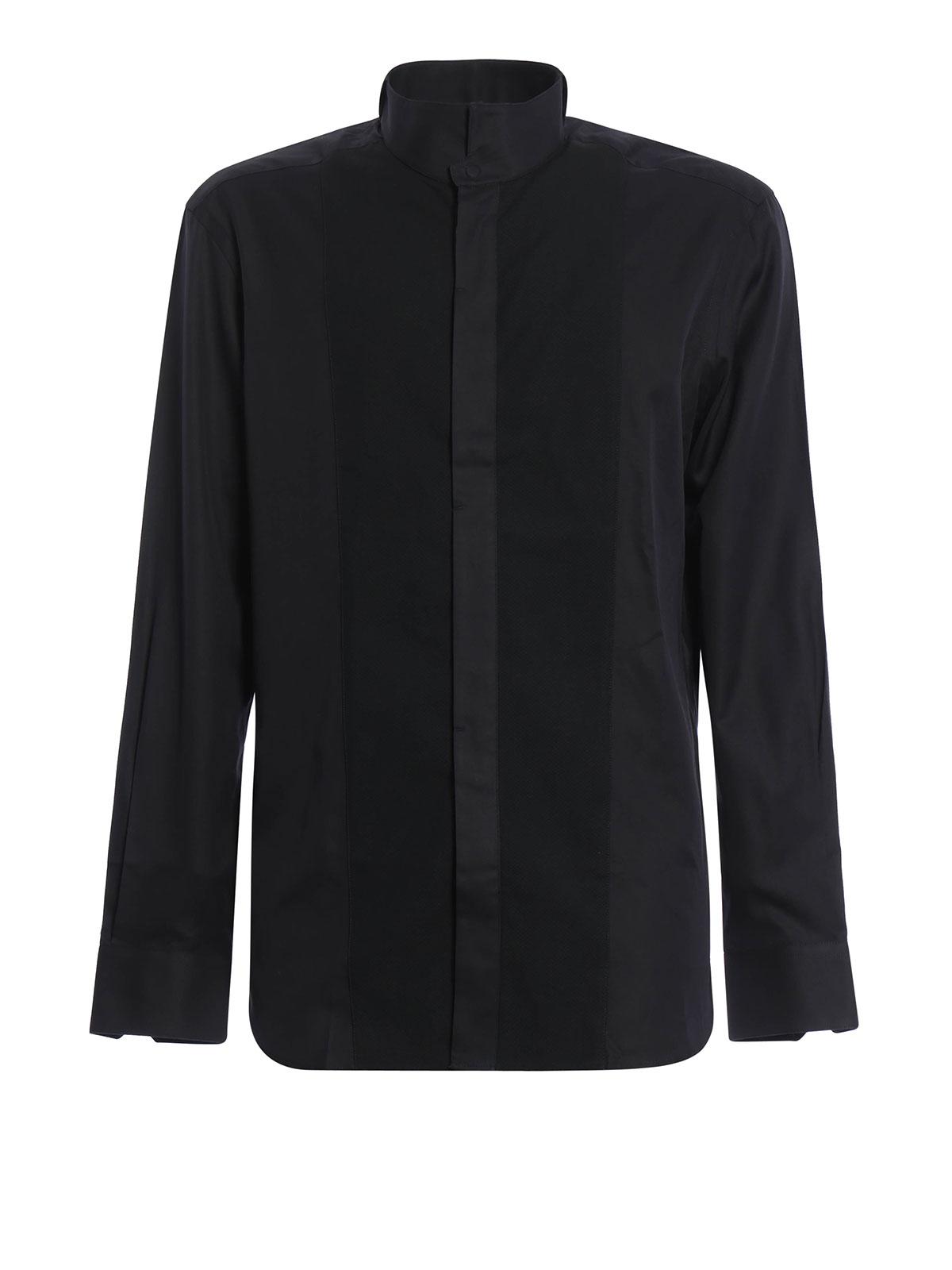4a39713c2325 Armani Collezioni - Chemise Noir Pour Homme - Chemises - UCC51T ...