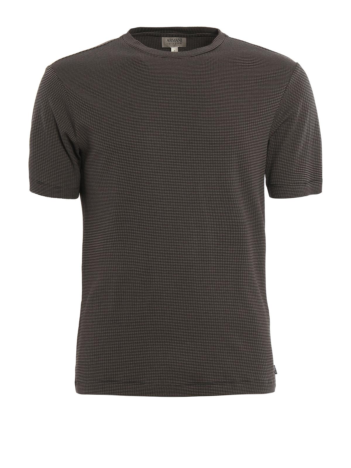 Micro woven Viscose T shirt By Armani Collezioni T