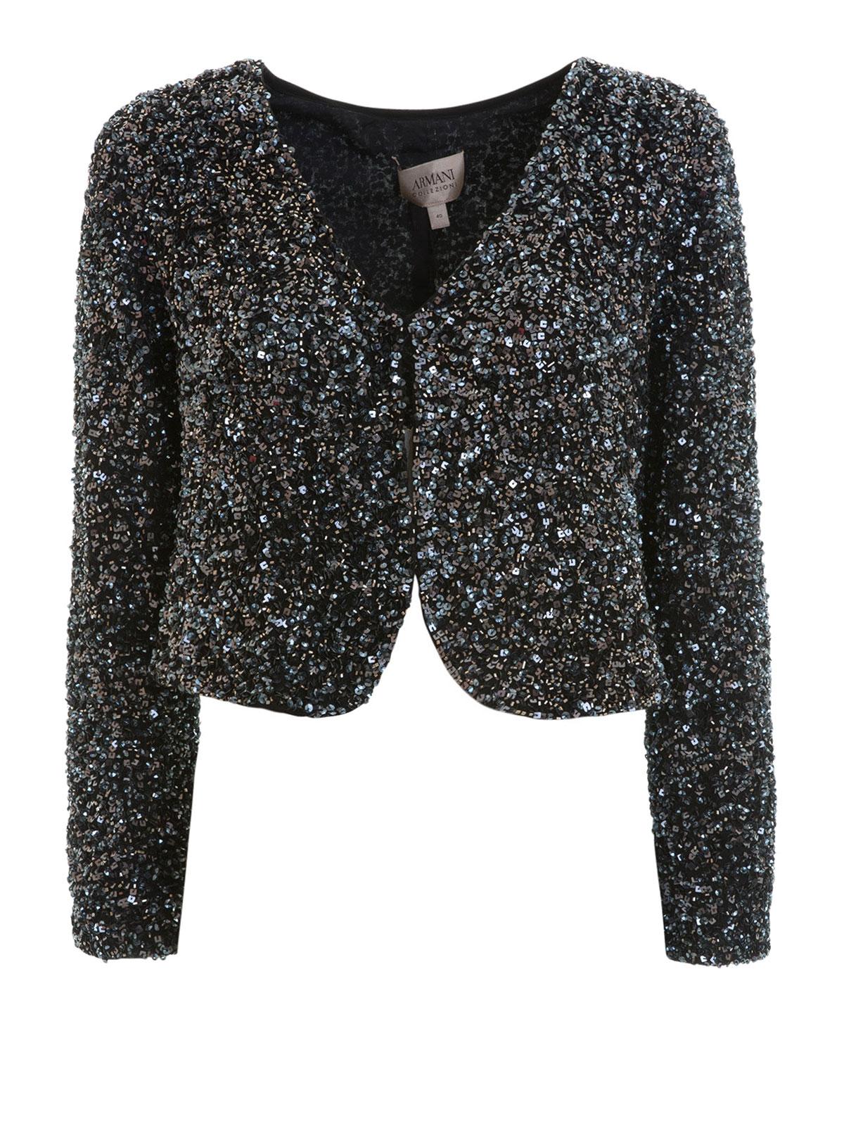 rivenditore all'ingrosso 03d2f ade12 Armani Collezioni - Giacchino corto con paillettes - giacche ...