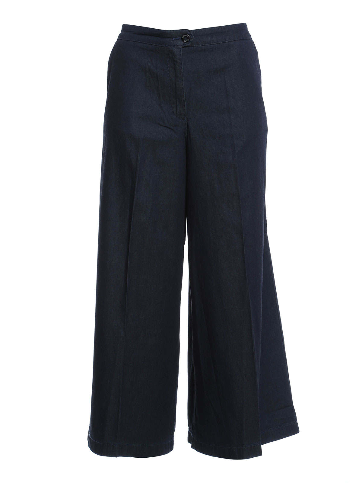 Chambray culottes by armani jeans casual trousers ikrix for Chambray jeans