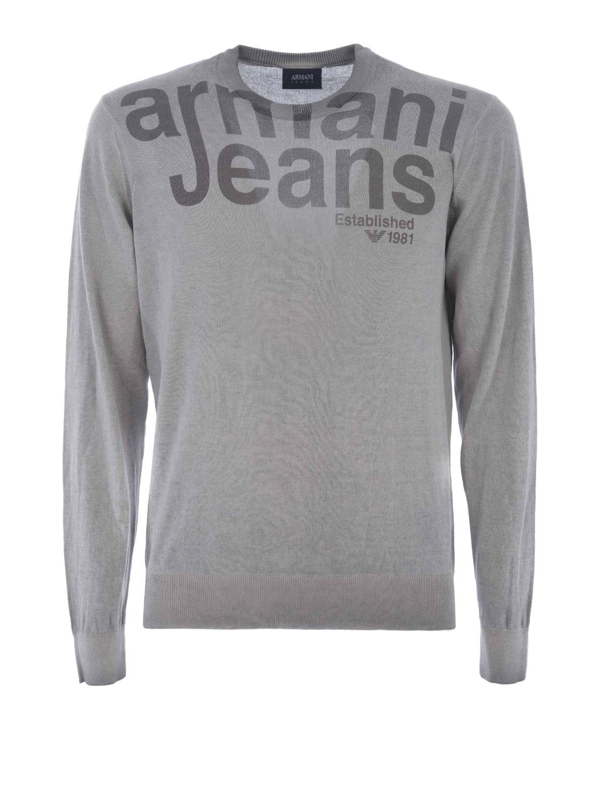 52754fe81e31 Armani Jeans - Sweat-Shirts Et Pulls Gris - Sweatshirts   Pulls ...