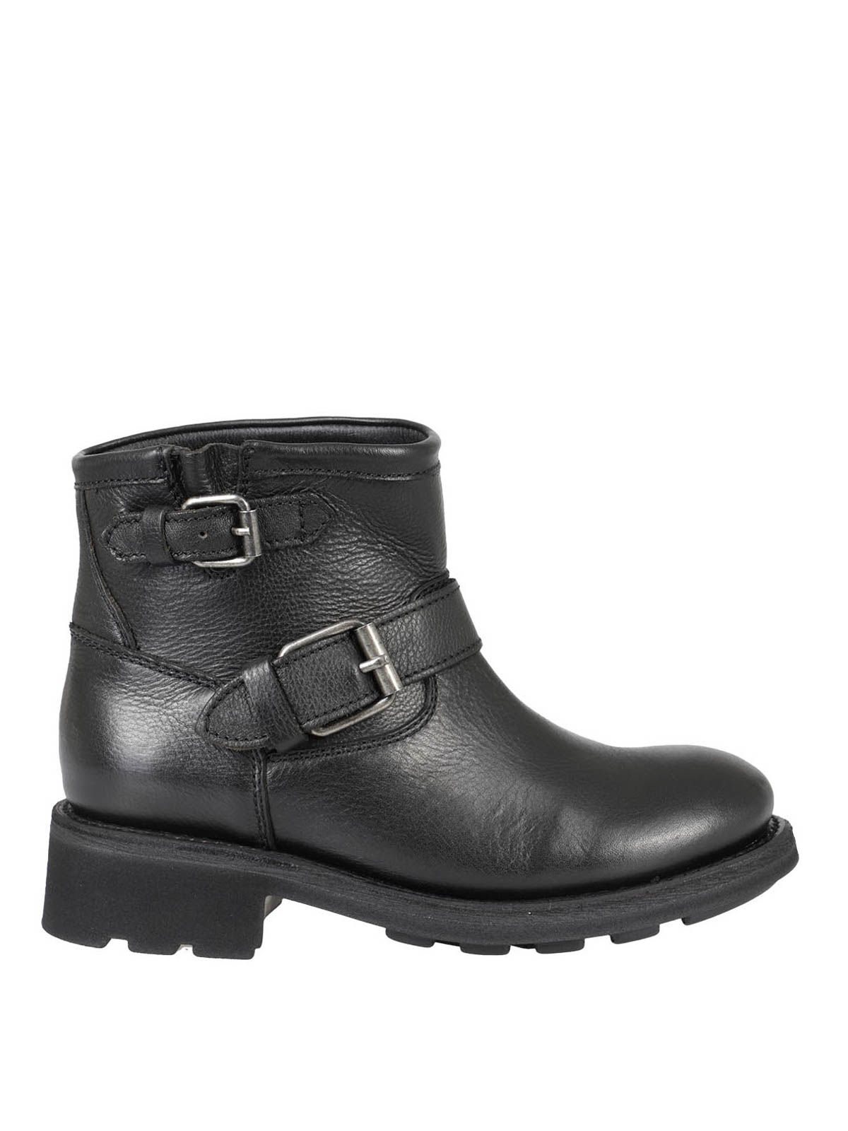 Ash GRAINY LEATHER ANKLE BOOTS